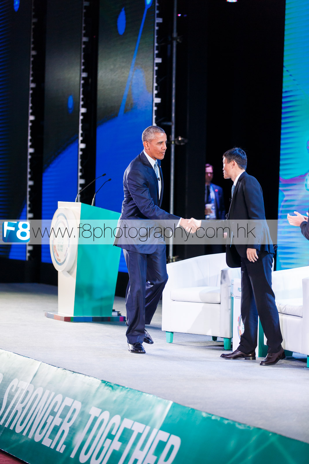 A highlight of the APEC SUMMIT, President Barack Obama greeting Jack Ma (Alibaba.com founder)