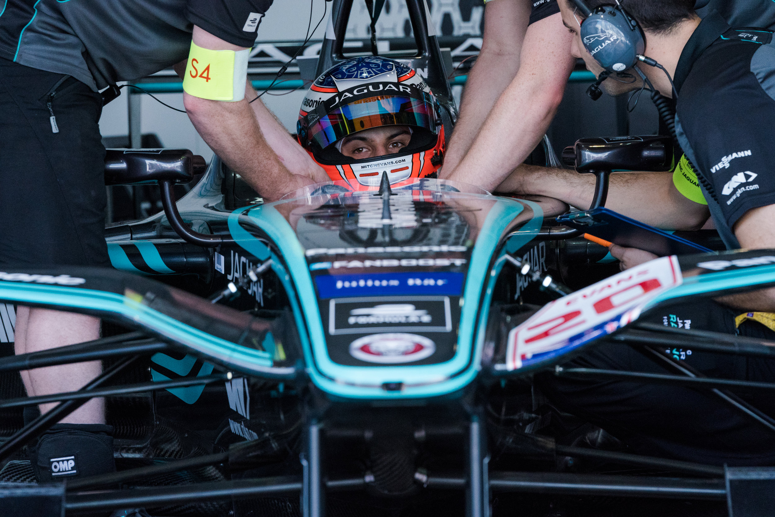 All eyes on the prize, Mitch Evans, Jaguar Formula E Team, fully focused Round 1.