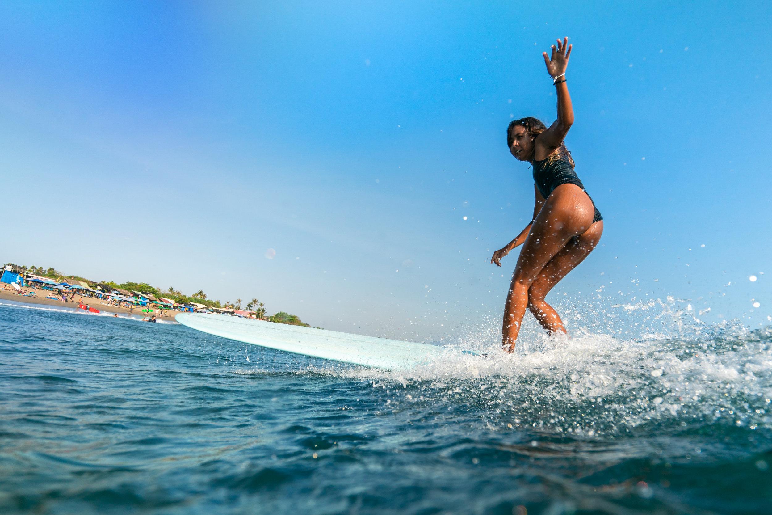 Longboarding, Bali, Indonesia