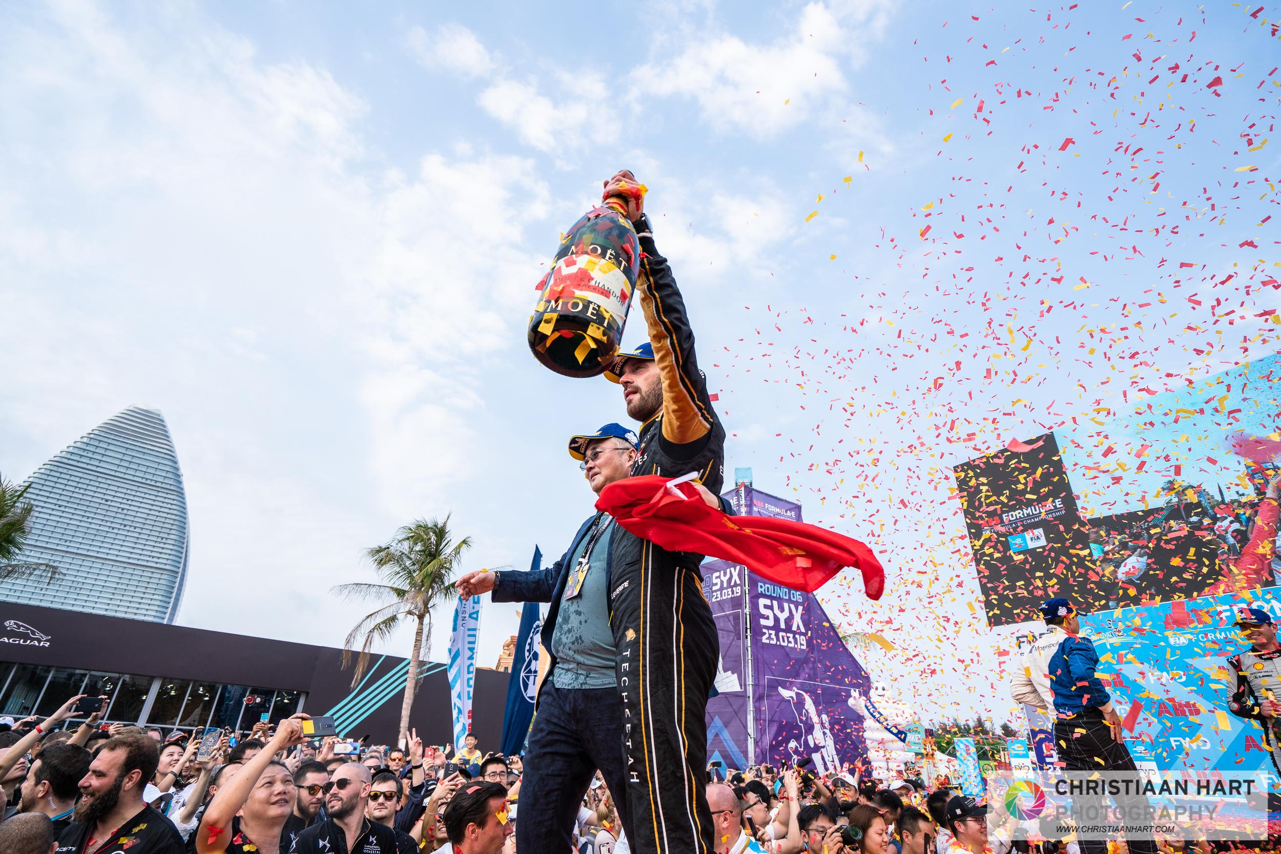 Jean Eric Vergne celebrating his win!