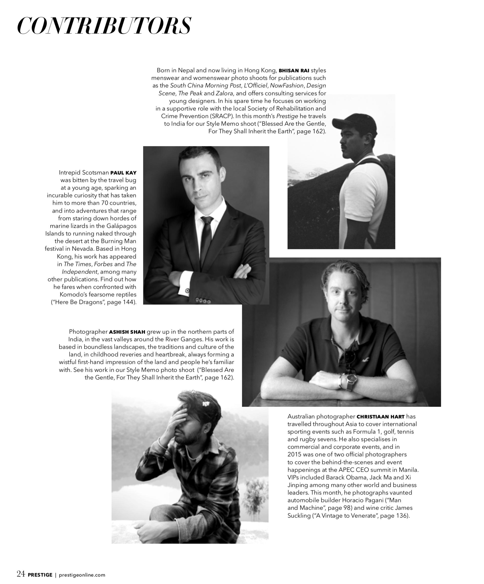 Prestige Magazine Contributor