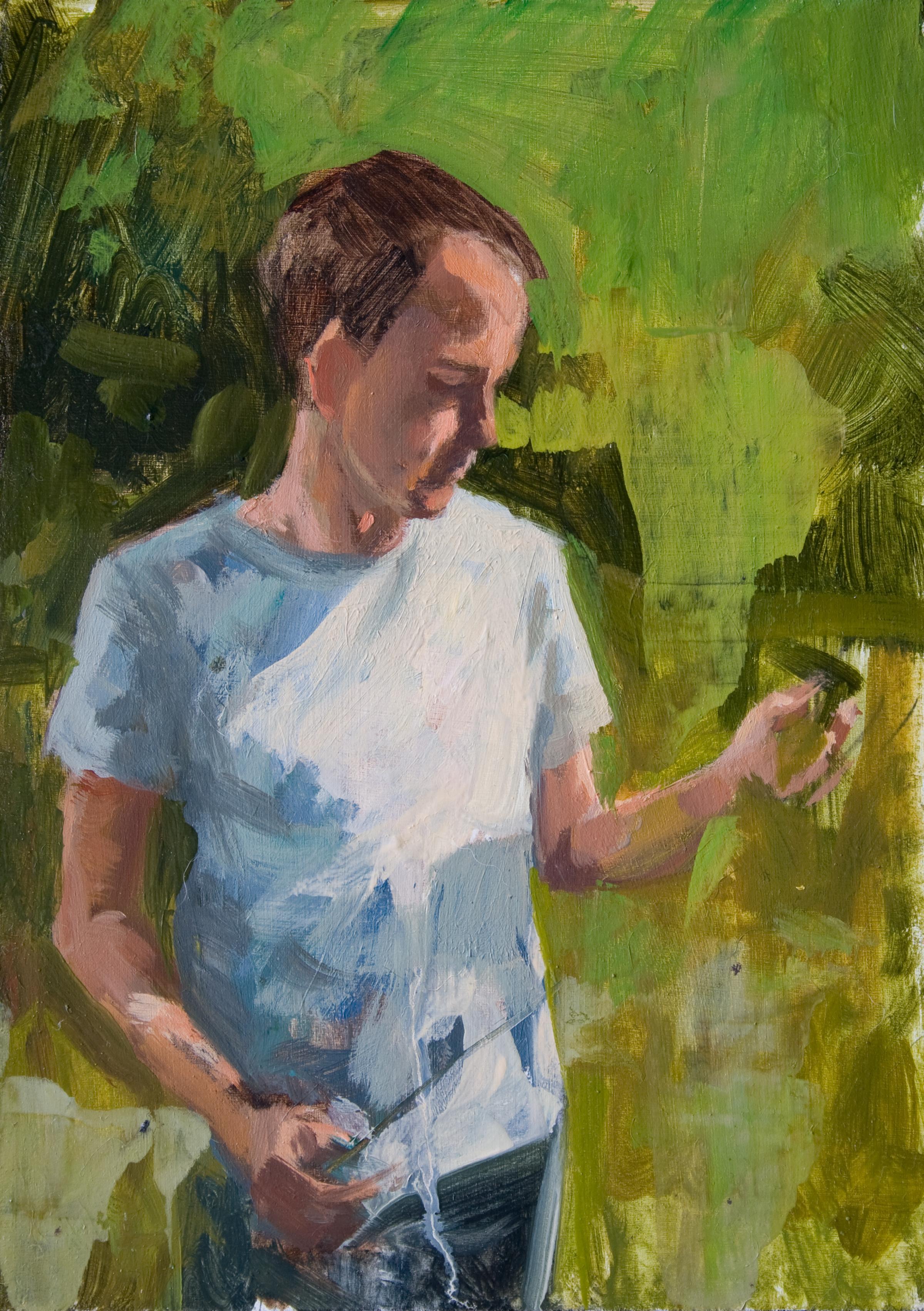 "Vacant Sunlight, 7"" x 5"", oil on panel, 2013"