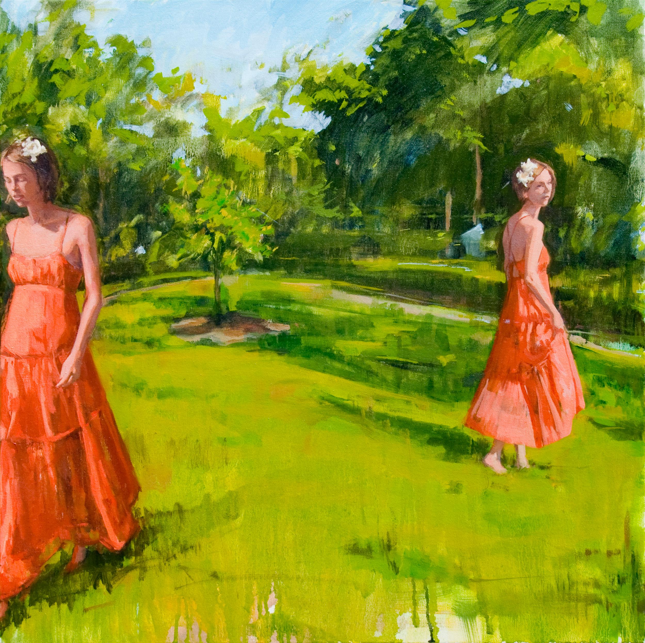 """Gardenias for Our Hair, oil on canvas, 24"""" x 24"""", 2013"""