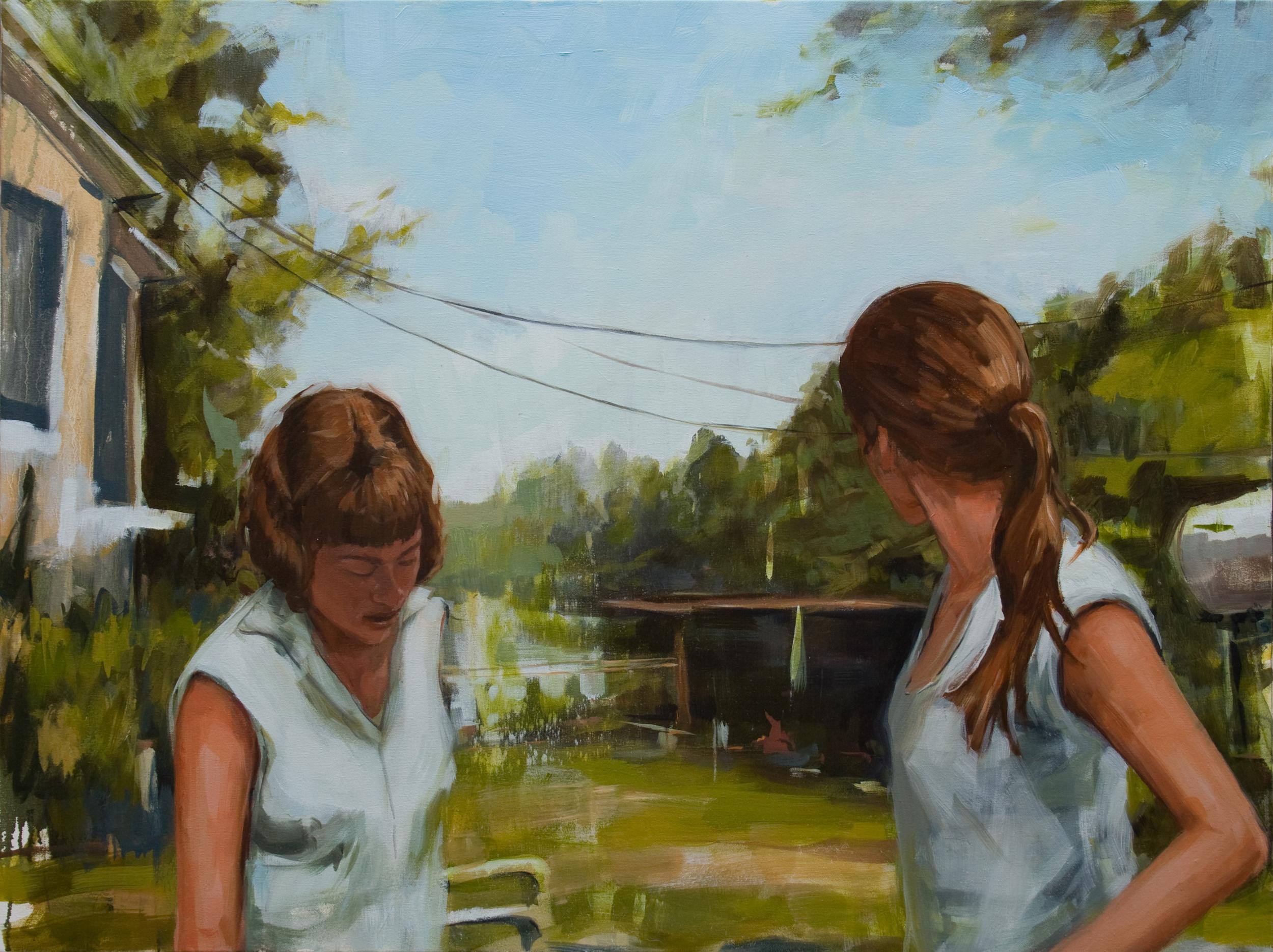 "Sometime in September, oil on canvas, 30"" x 40"", 2013"