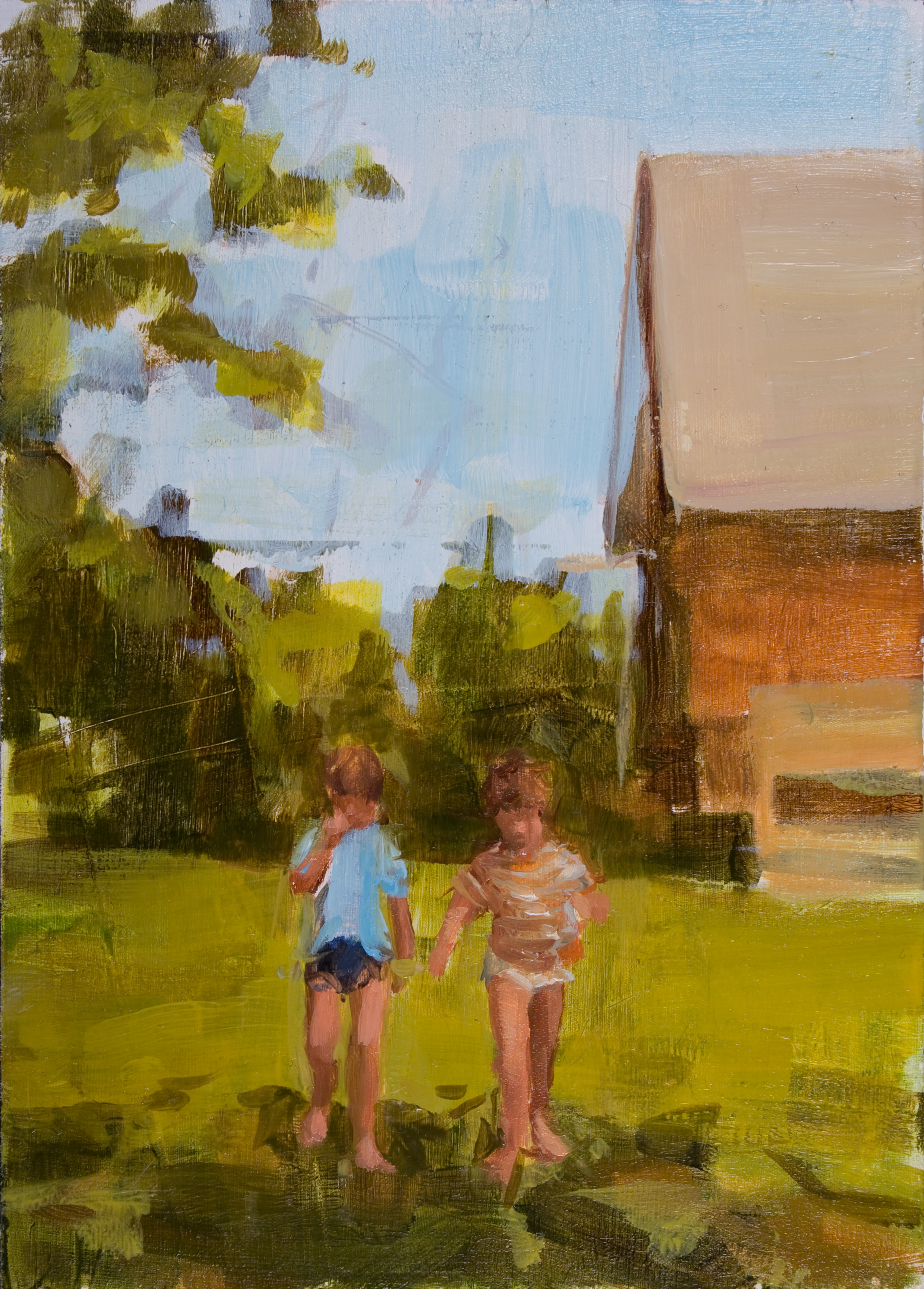 """Almost There, oil on panel, 7"""" x 5"""", 2012"""