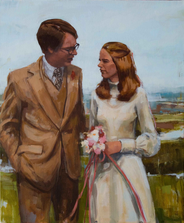 "February 17, 1974, oil on canvas, 24"" x 20"", 2013"