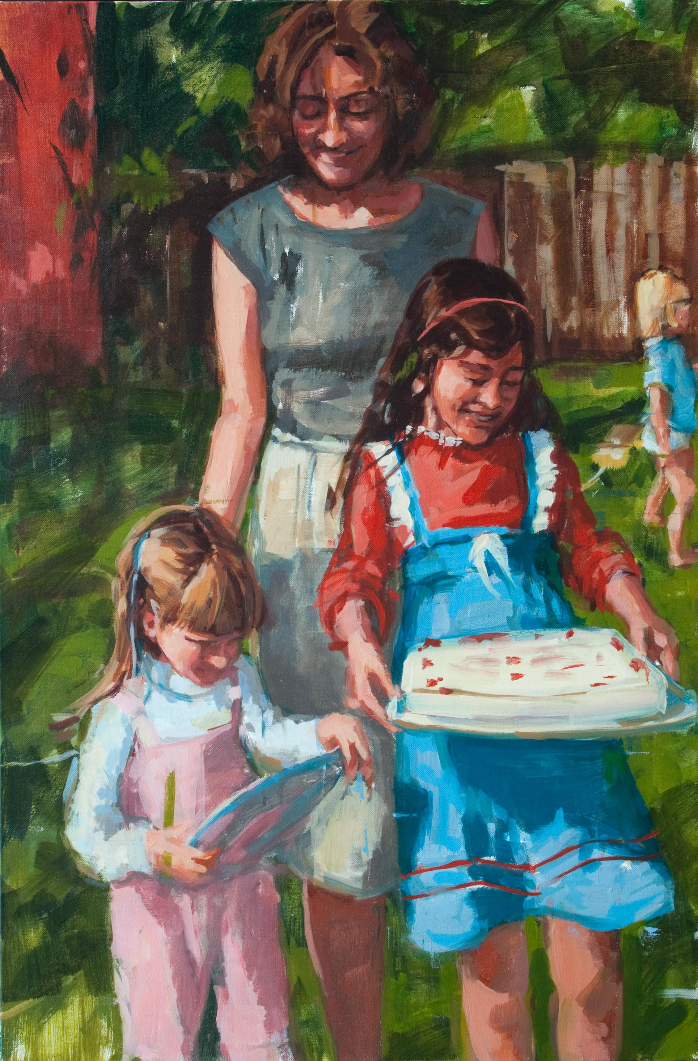 "Birthday Parade, oil on canvas, 36"" x 24"", 2012"