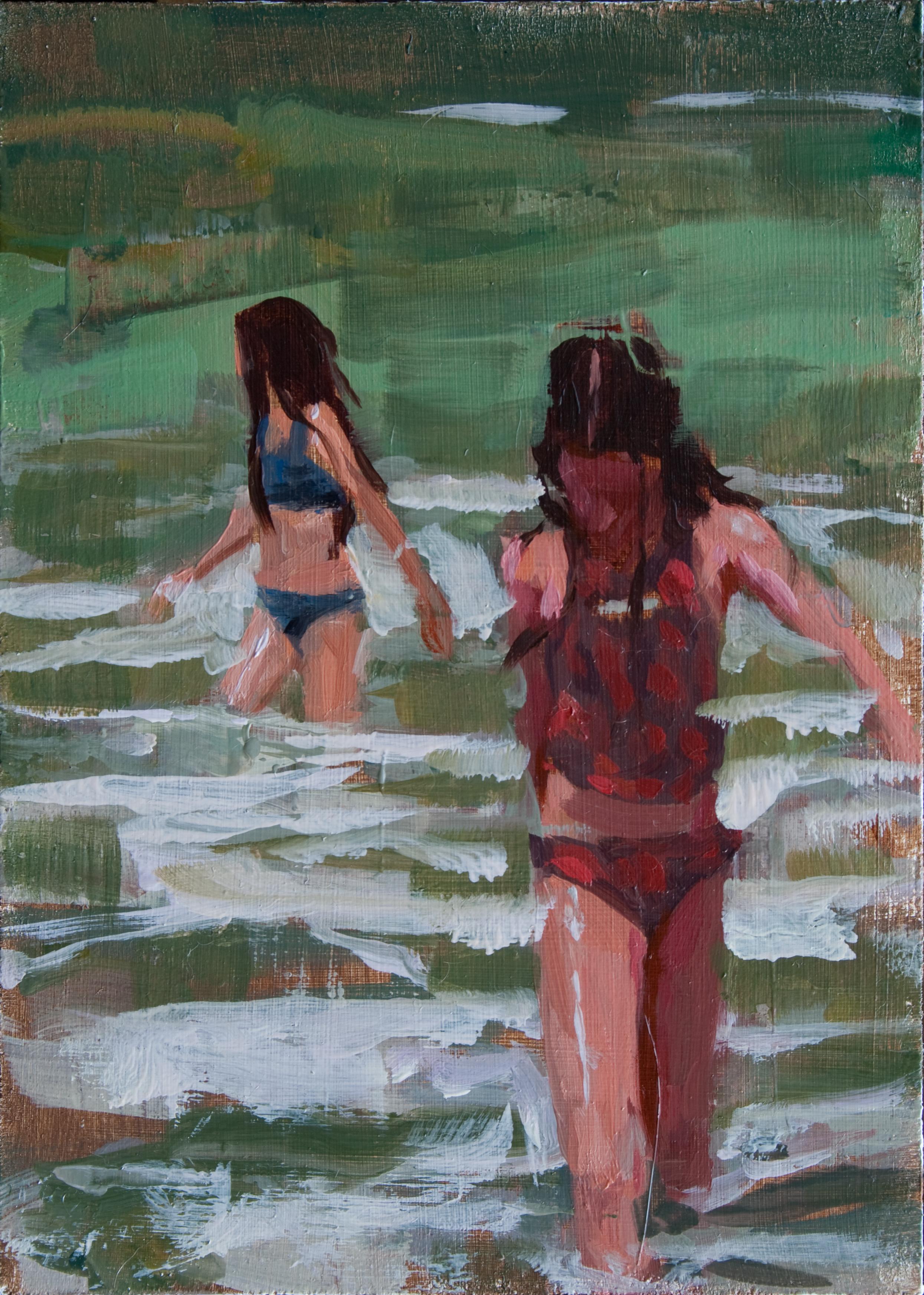 """Ocean Waves, oil on panel, 7"""" x 5"""", 2012"""