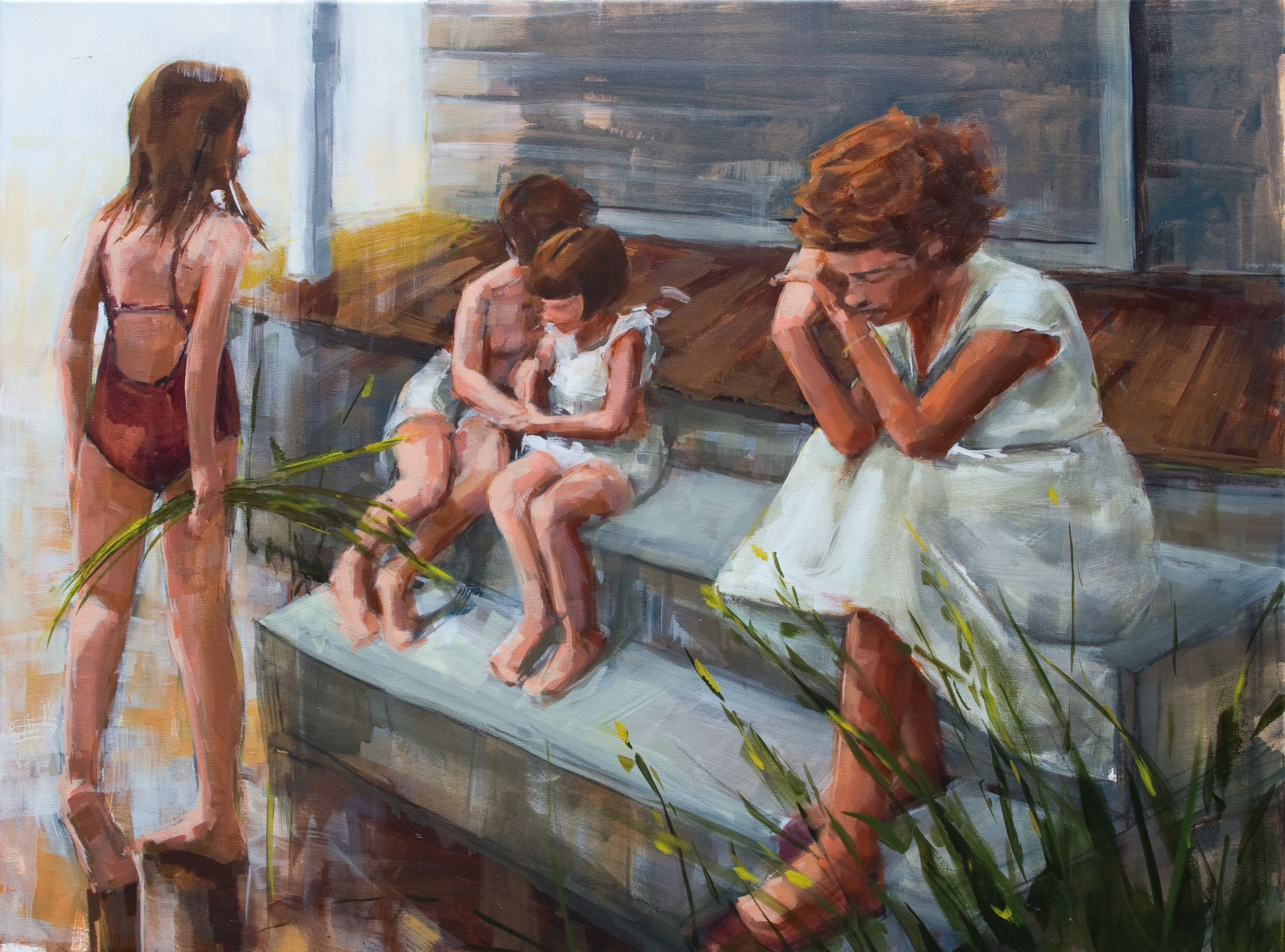 """Front Porch, oil on canvas, 30"""" x 40"""", 2012, Private Collection"""