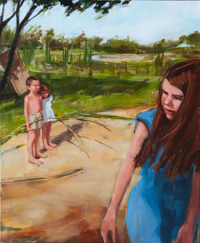 "Line Judges, oil on canvas, 24"" x 20"", 2012"