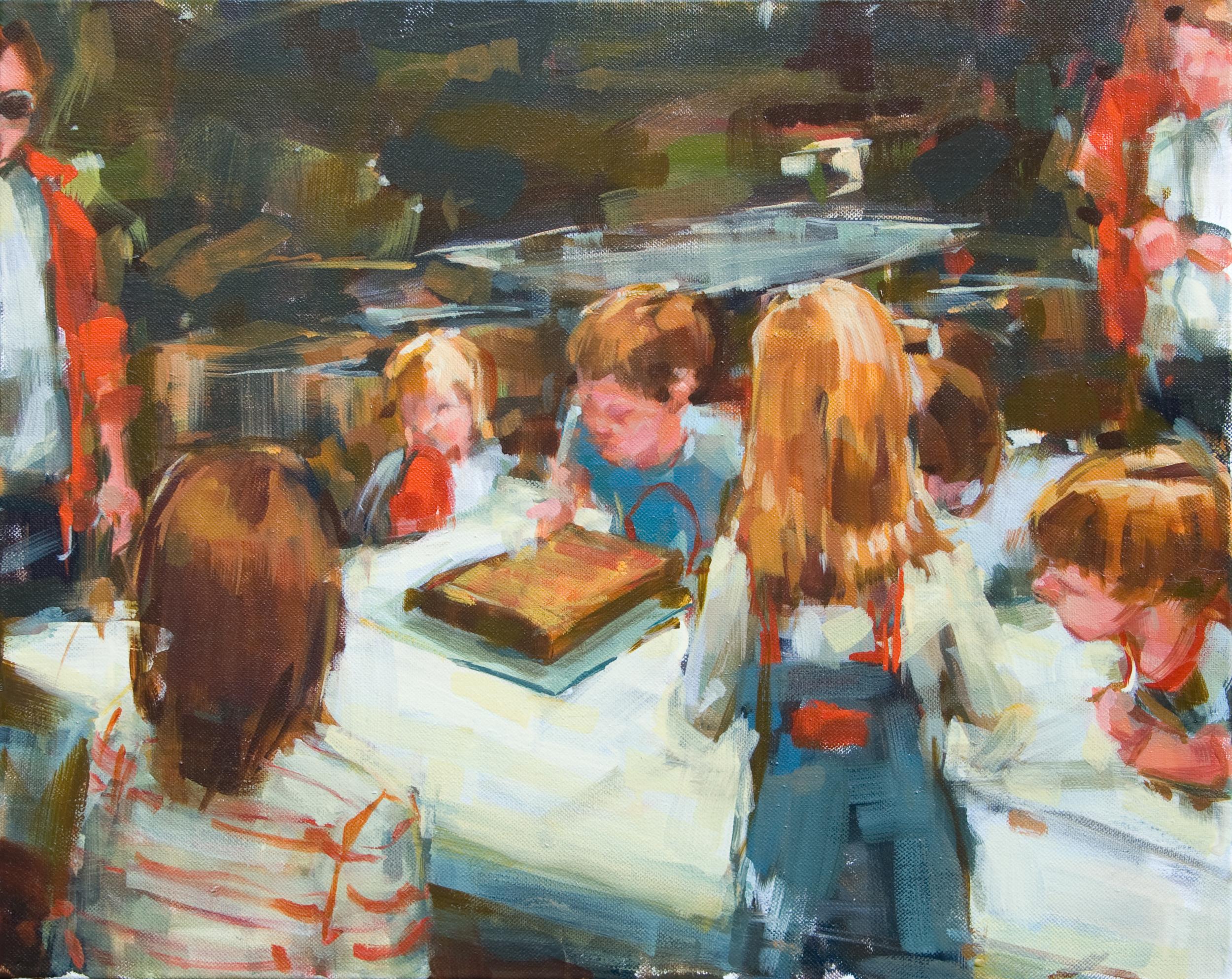 "Birthday Cake, oil on canvas, 16"" x 20"", 2011"