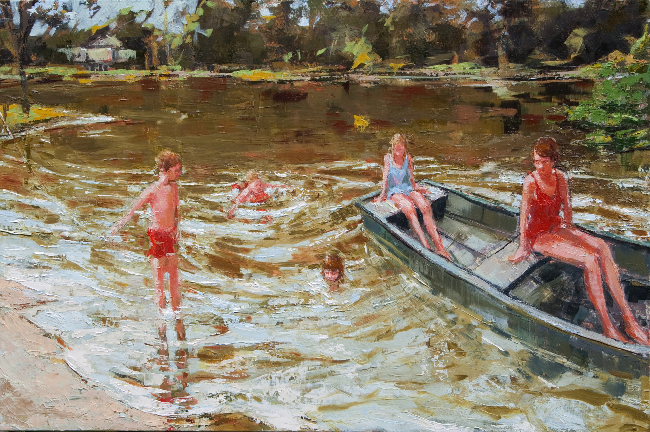 """Neighborhood Lake, oil on canvas, 24"""" x 36"""", 2011, Private Collection"""