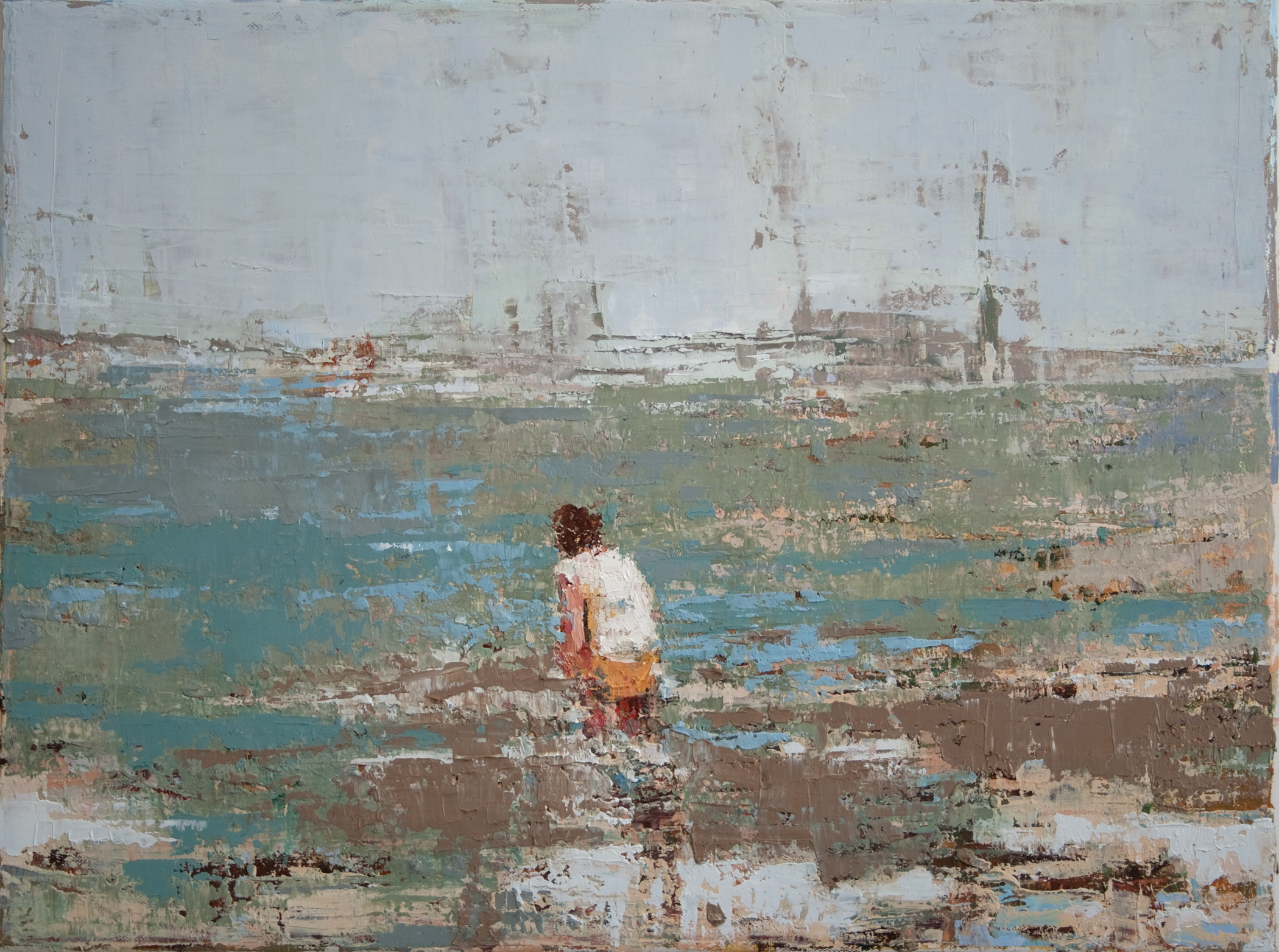 """Lonely Beach, oil on linen, 12"""" x 16"""", 2010, Private Collection"""