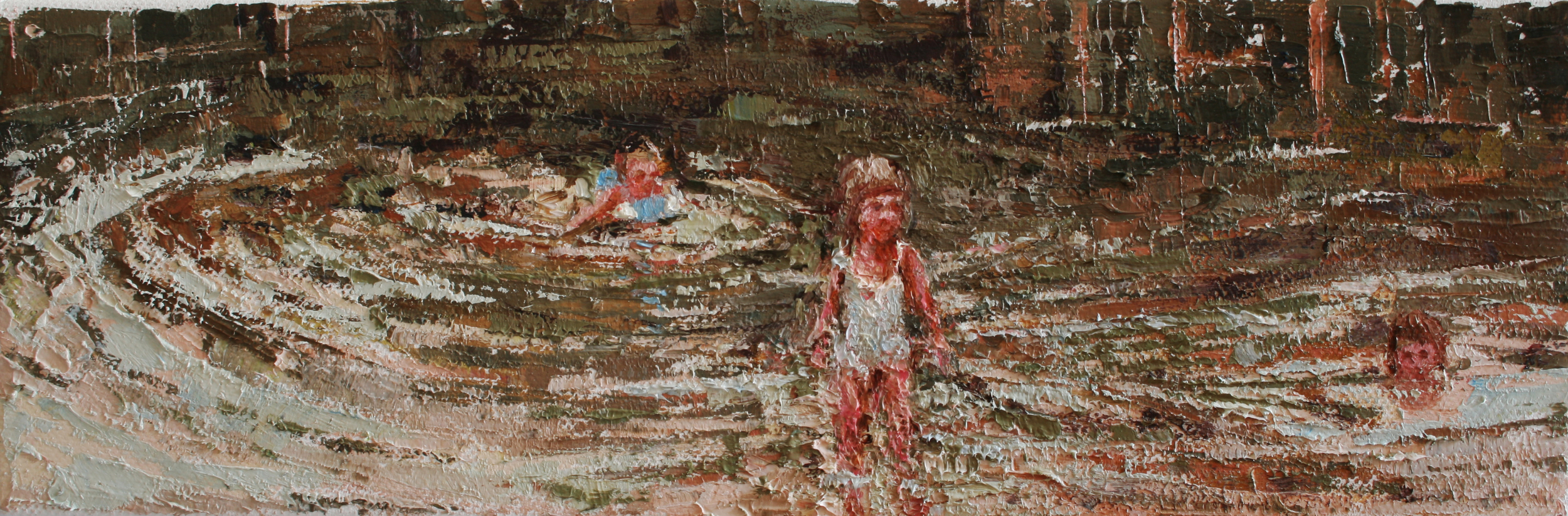 """Water Ripples, oil on canvas, 4"""" x 12"""", 2010, Private Collection"""