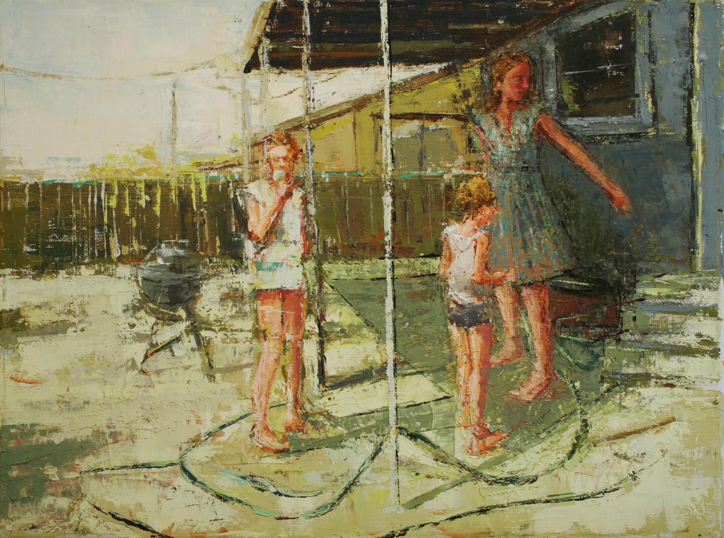 """Garden Hose, oil on linen, 12"""" x 16"""", 2010, Private Collection"""