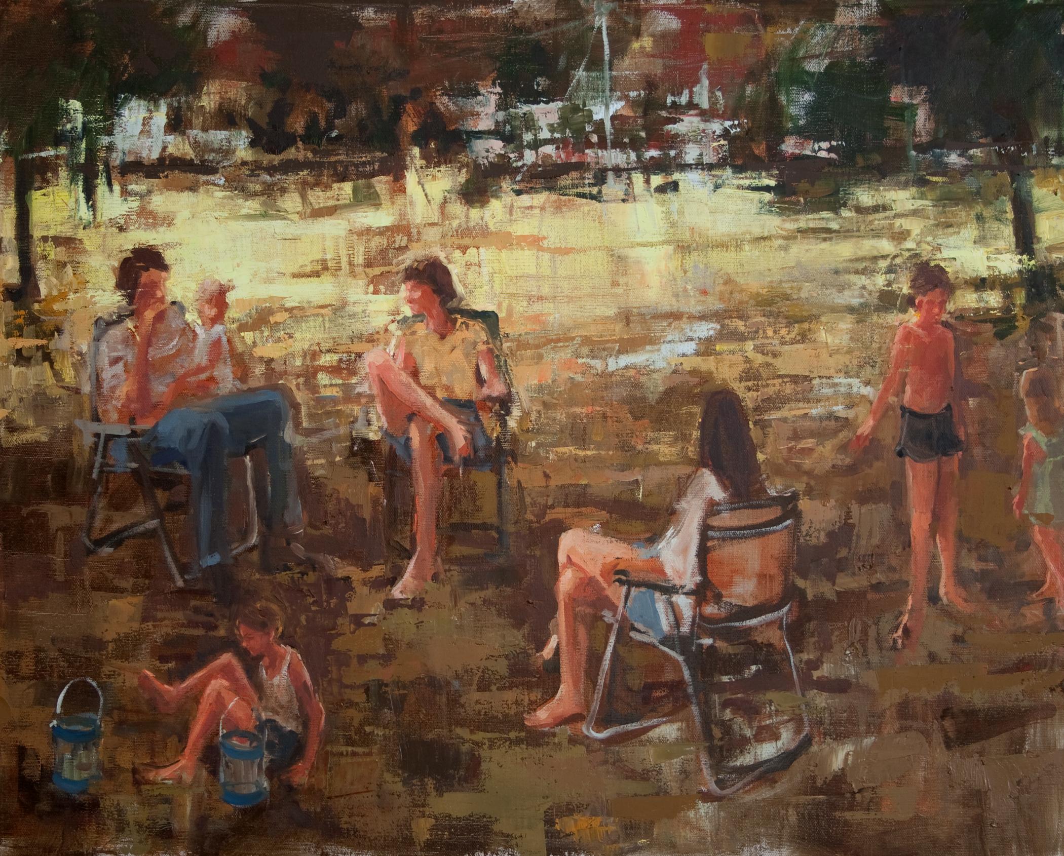 "Backyard Shade, oil on linen, 16"" x 20"", 2010"
