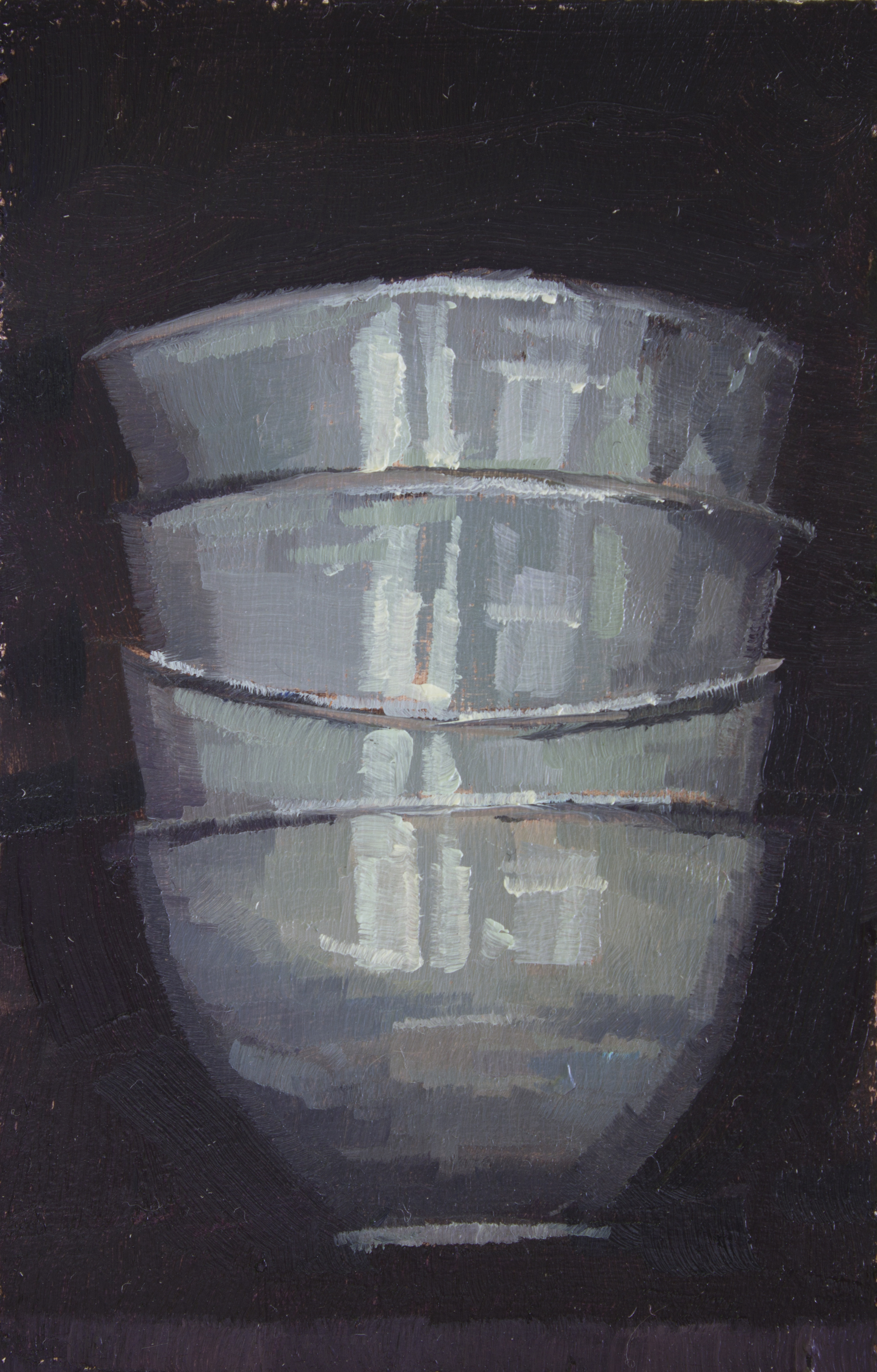 "TS 307, oil on panel, 3.25"" x 2"", 2014, Sold"