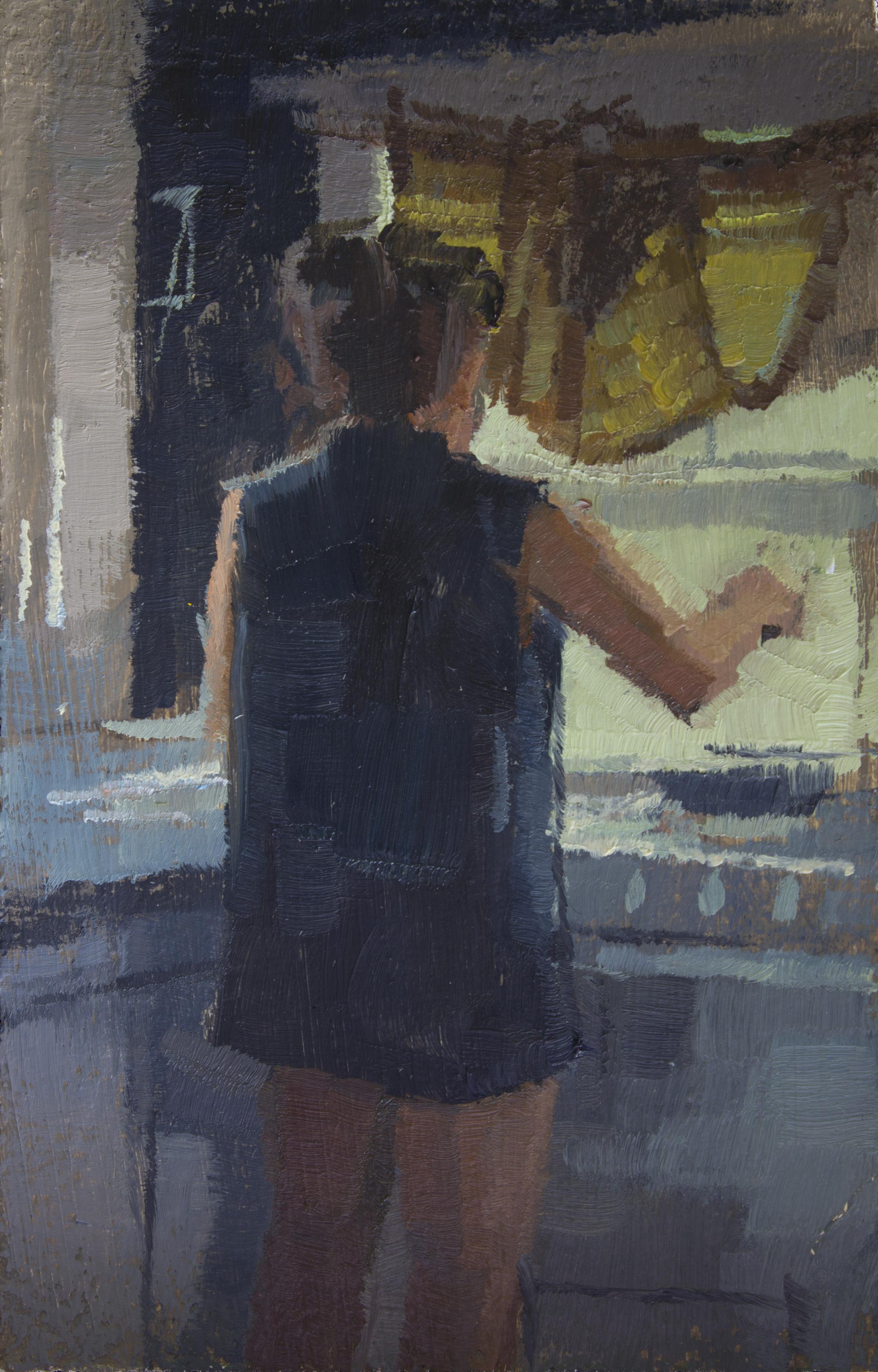 """TS 325, oil on panel, 3.25"""" x 2"""", 2014"""