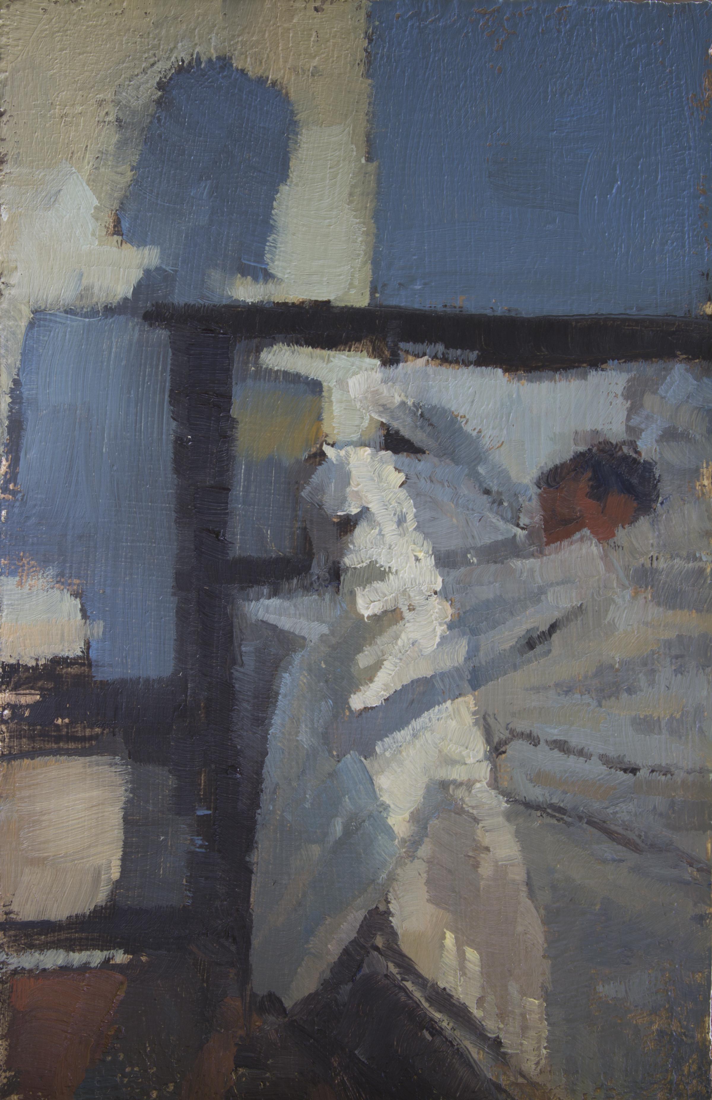 """TS 319, oil on panel, 3.25"""" x 2"""", 2014"""