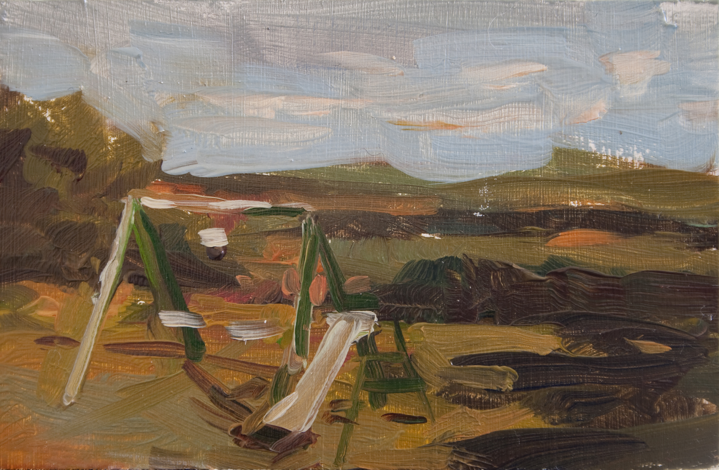 "TS 253, oil on panel, 2"" x 3.25"", 2012, Sold"