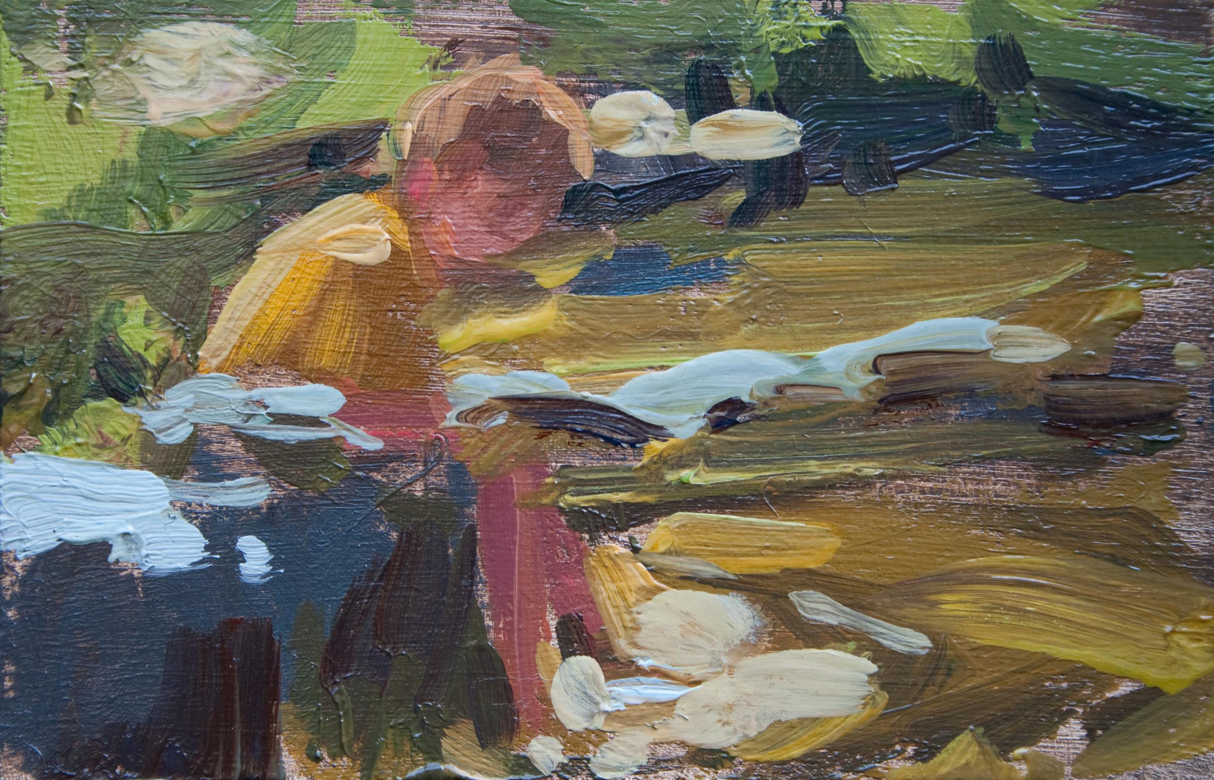 """TS 229, oil on panel, 2"""" x 3.25"""", 2012"""