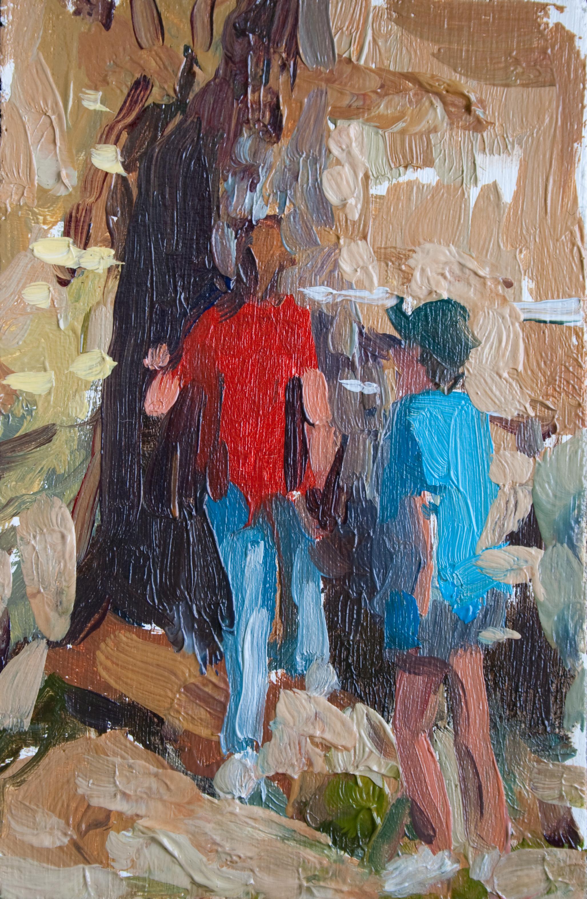 """TS 223, oil on panel, 3.25"""" x 2"""", 2012"""