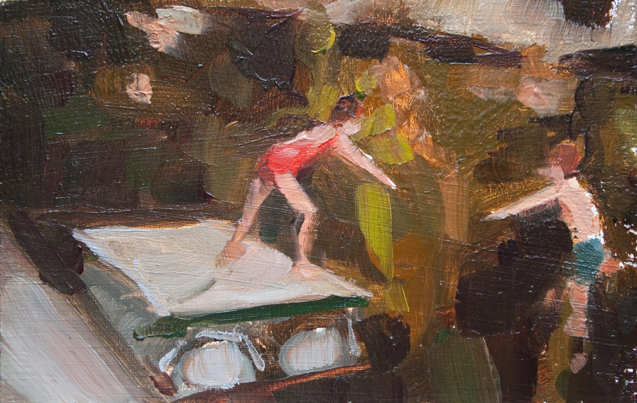 """TS 221, oil on panel, 2"""" x 3.25"""", 2012"""