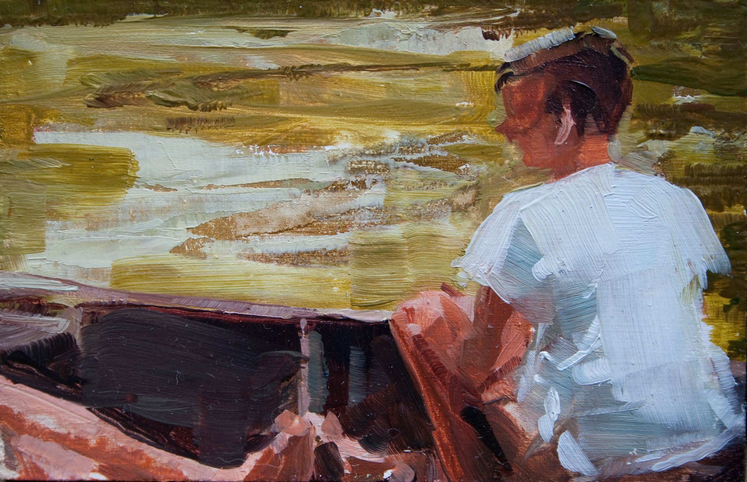 "TS 196, oil on panel, 2"" x 3.25"", 2012"