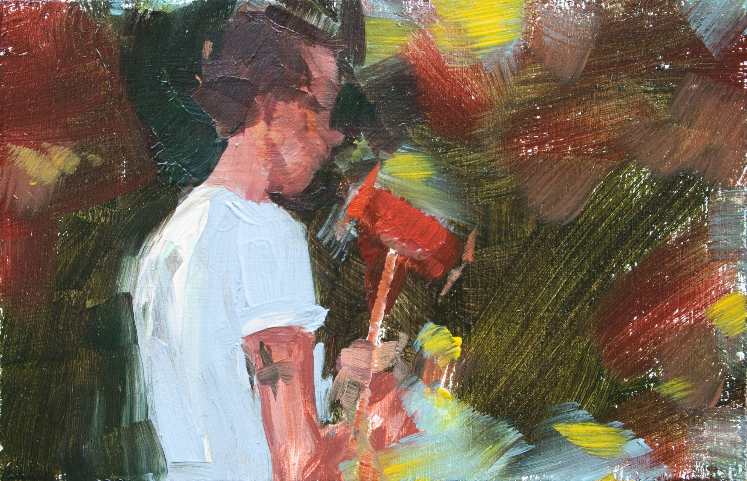 "TS 184, oil on panel, 2"" x 3.25"", 2012"