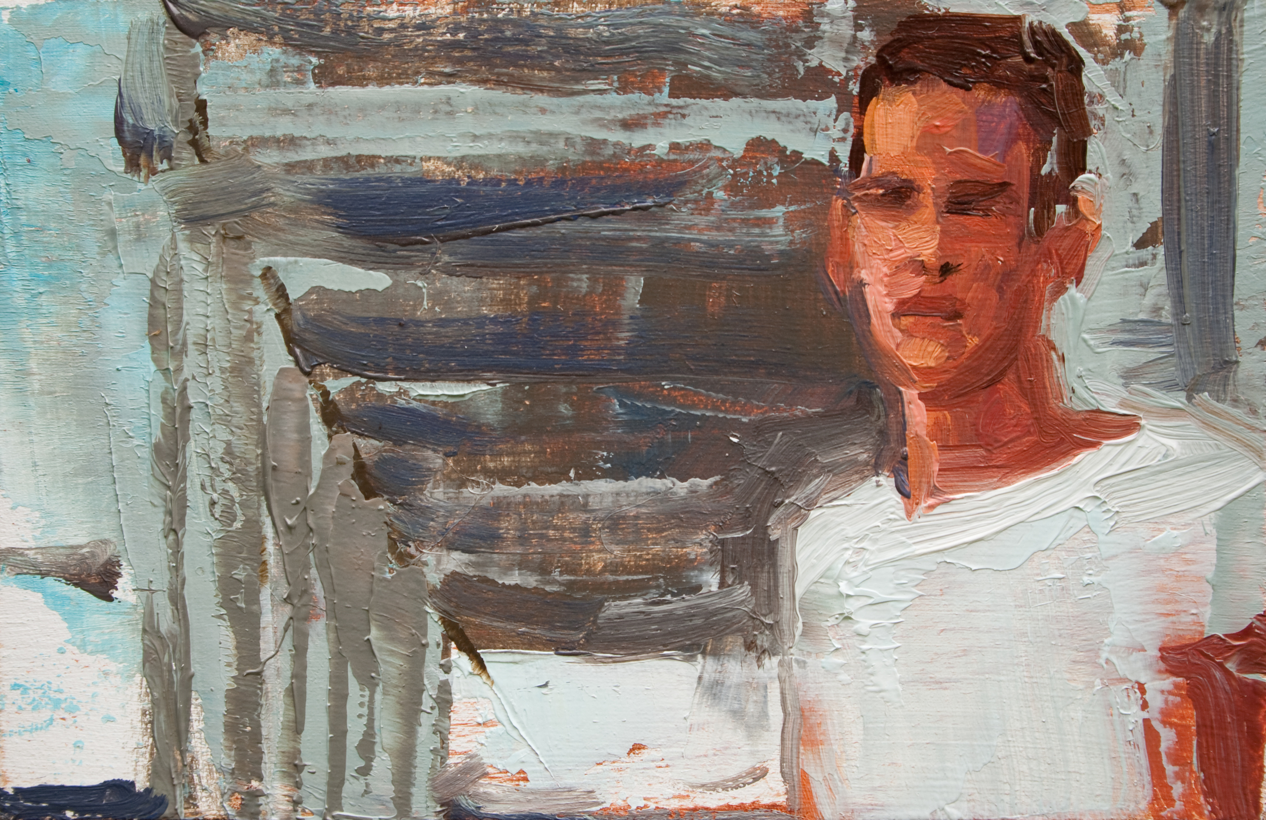 "TS 181, oil on panel, 2"" x 3.25"", 2012"