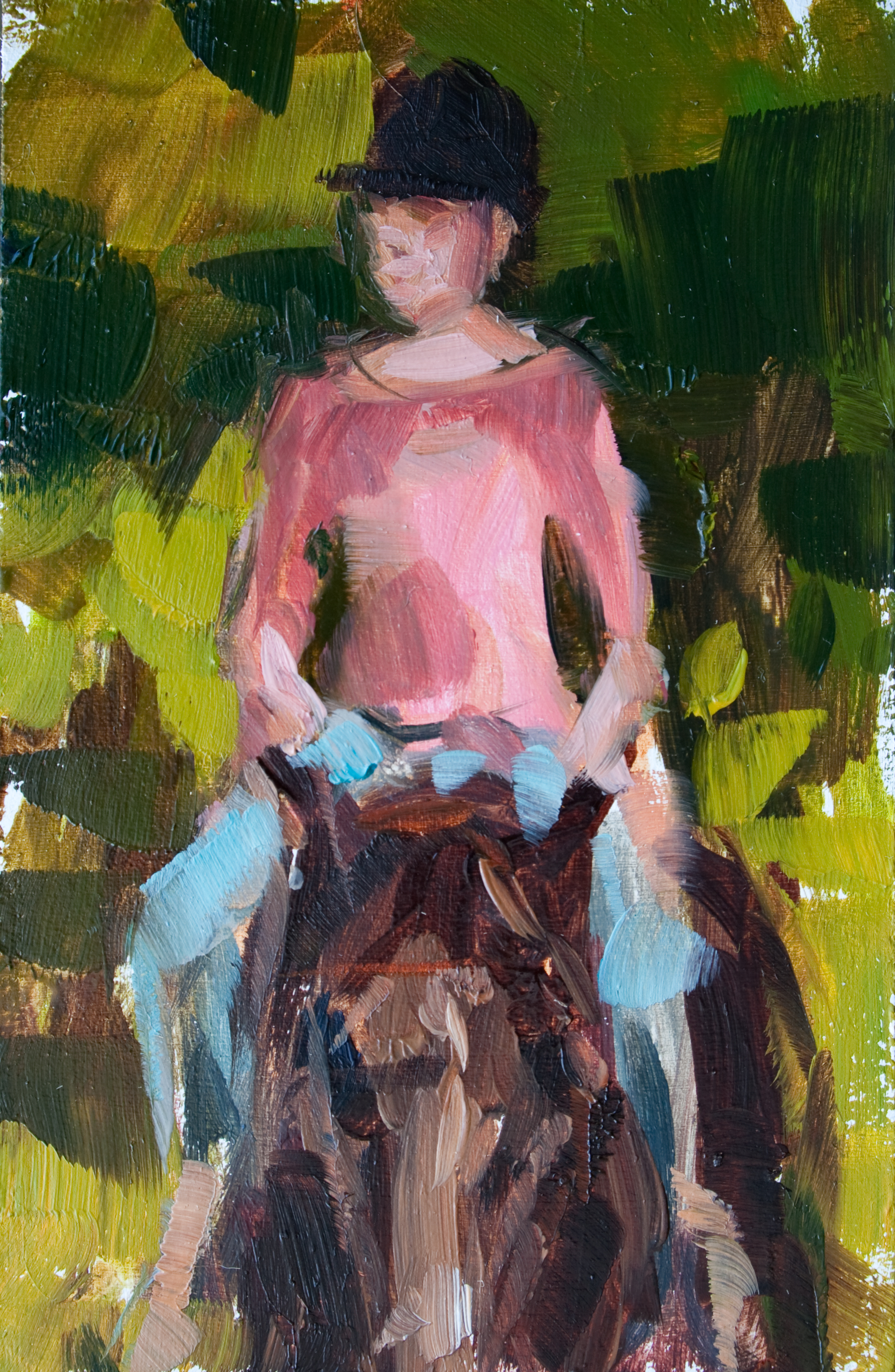 "TS 174, oil on panel, 3.25"" x 2"", 2012"