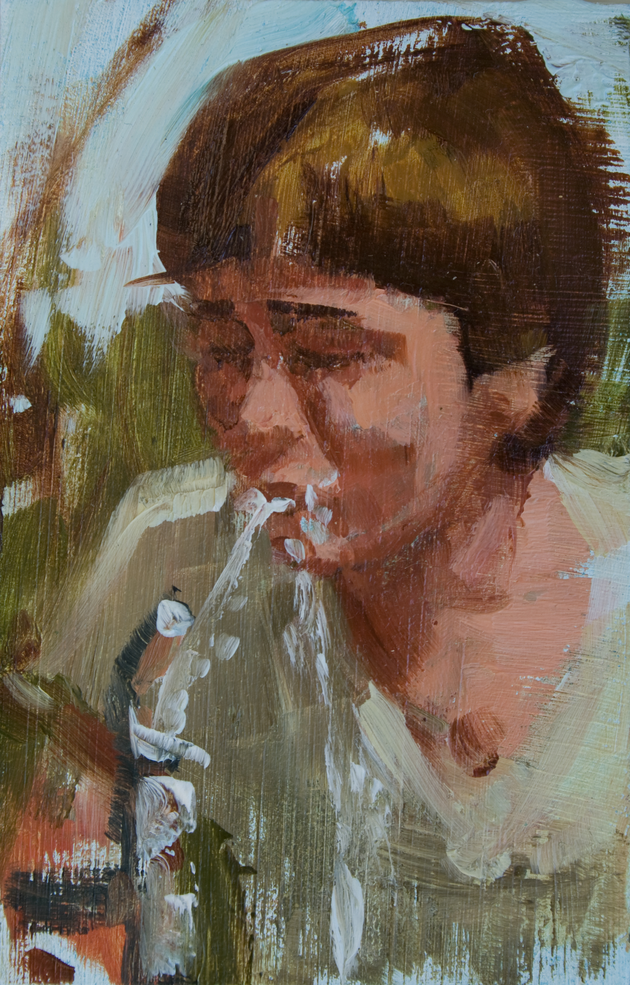 "TS 172, oil on panel, 3.25"" x 2"", 2012"