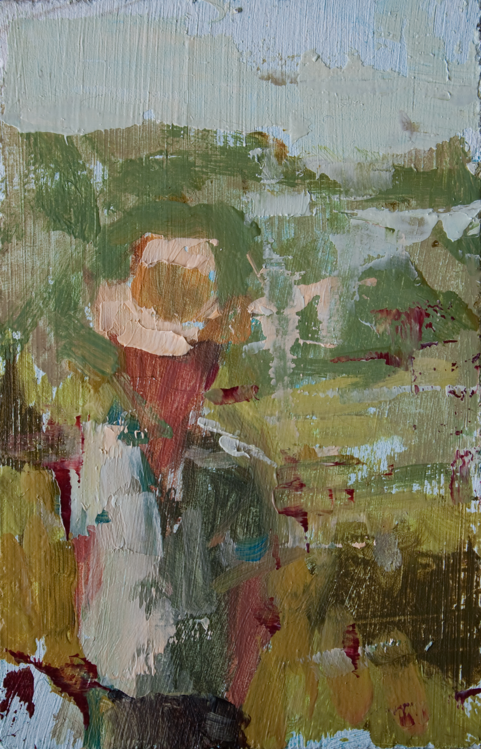 "TS 167, oil on panel, 3.25"" x 2"", 2012"