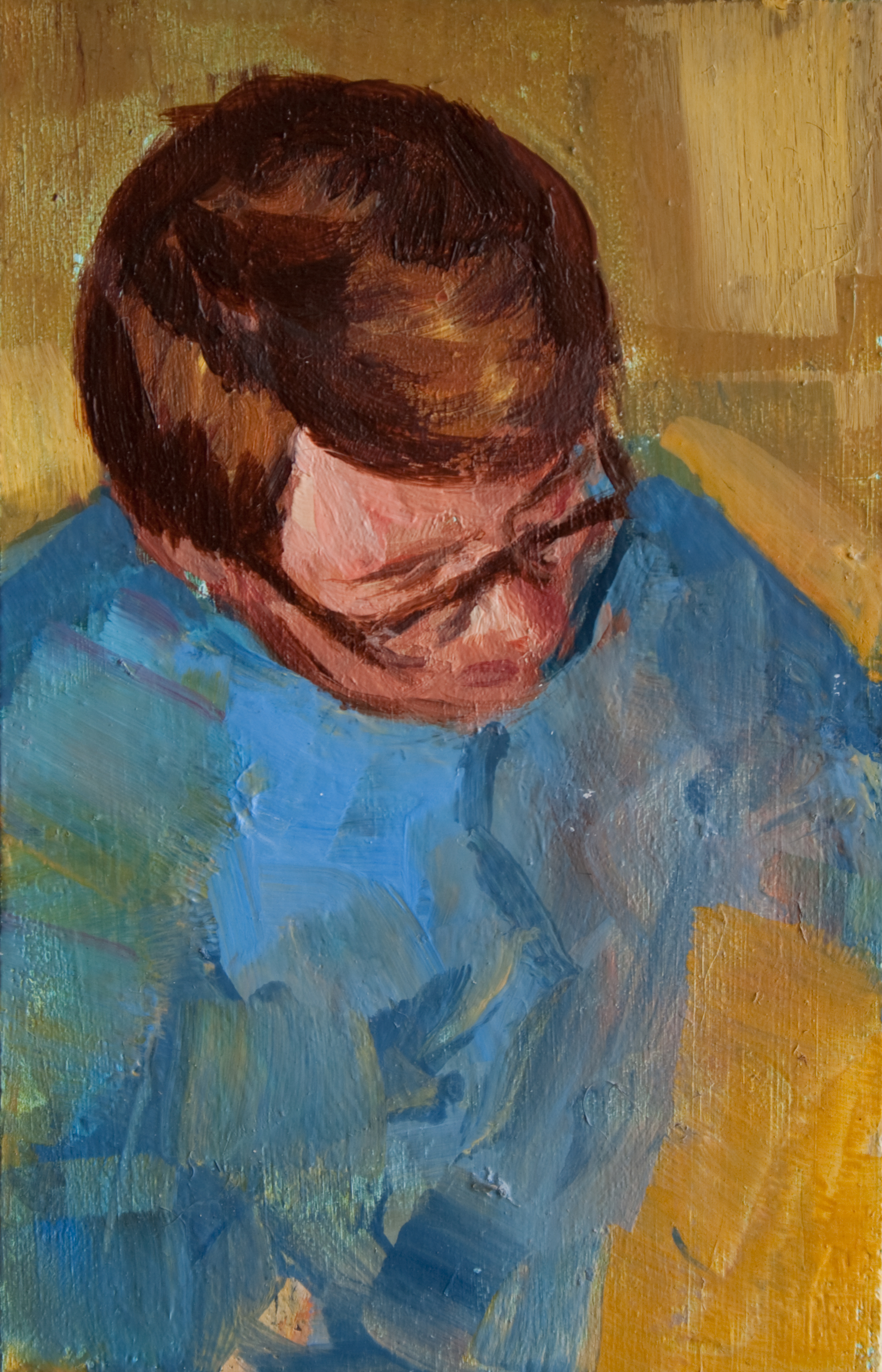 "TS 166, oil on panel, 3.25"" x 2"", 2012"