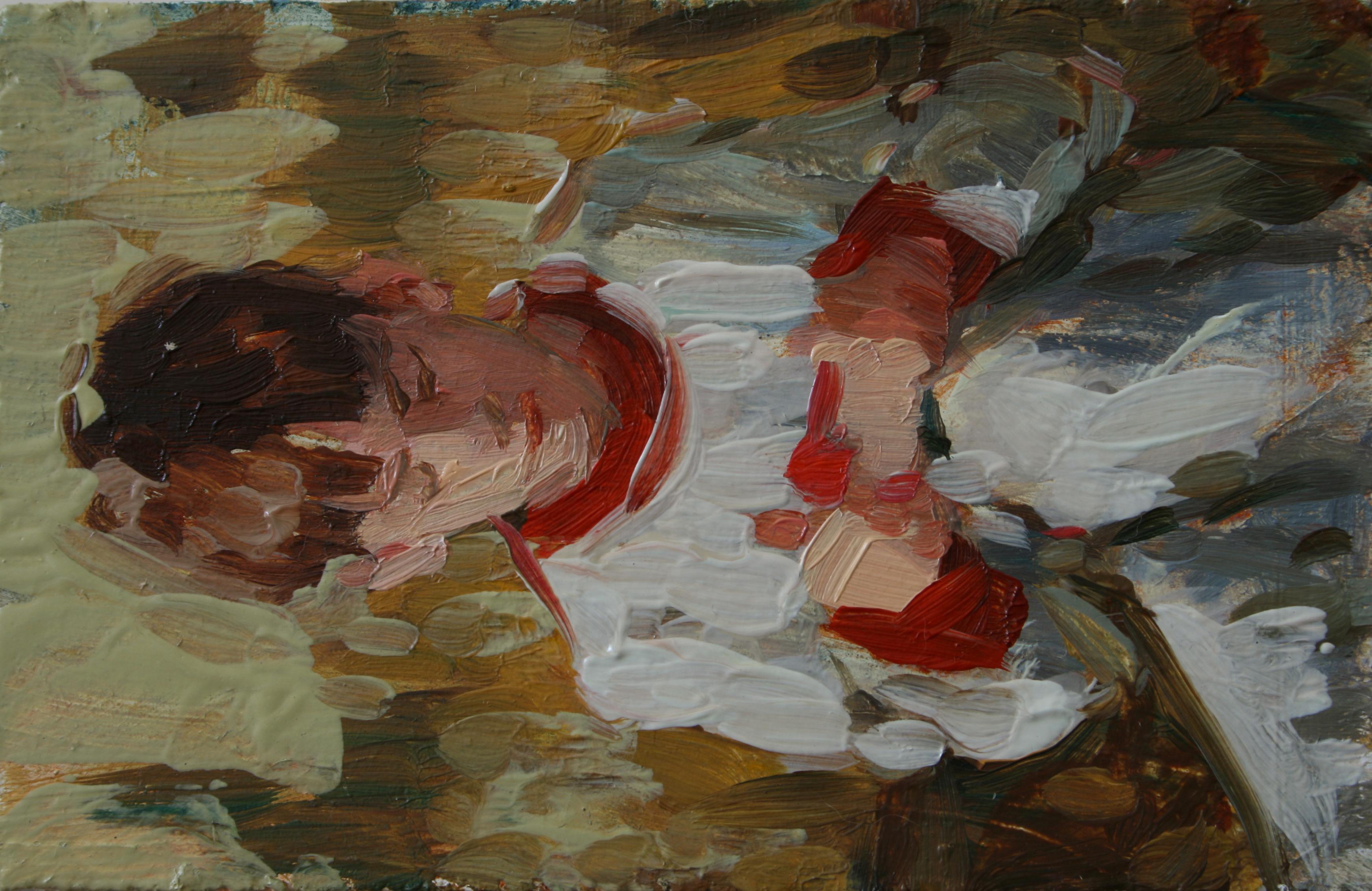 """TS 157, oil on panel, 3.25"""" x 2"""", 2011"""