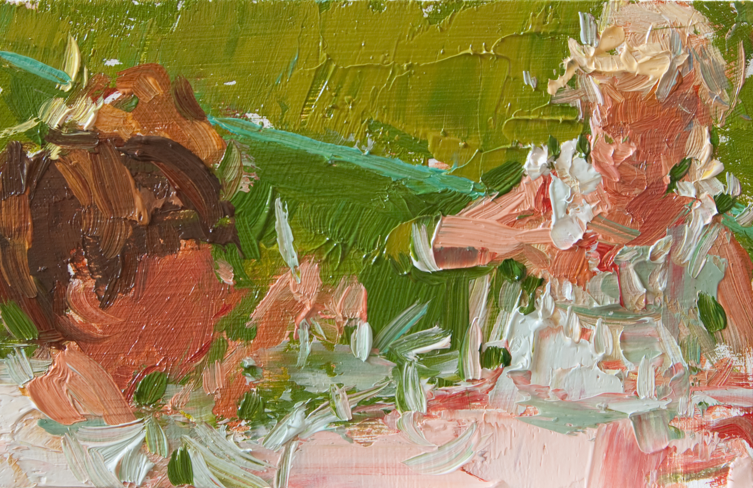 "TS 136, oil on panel, 2"" x 3.25"", 2011"
