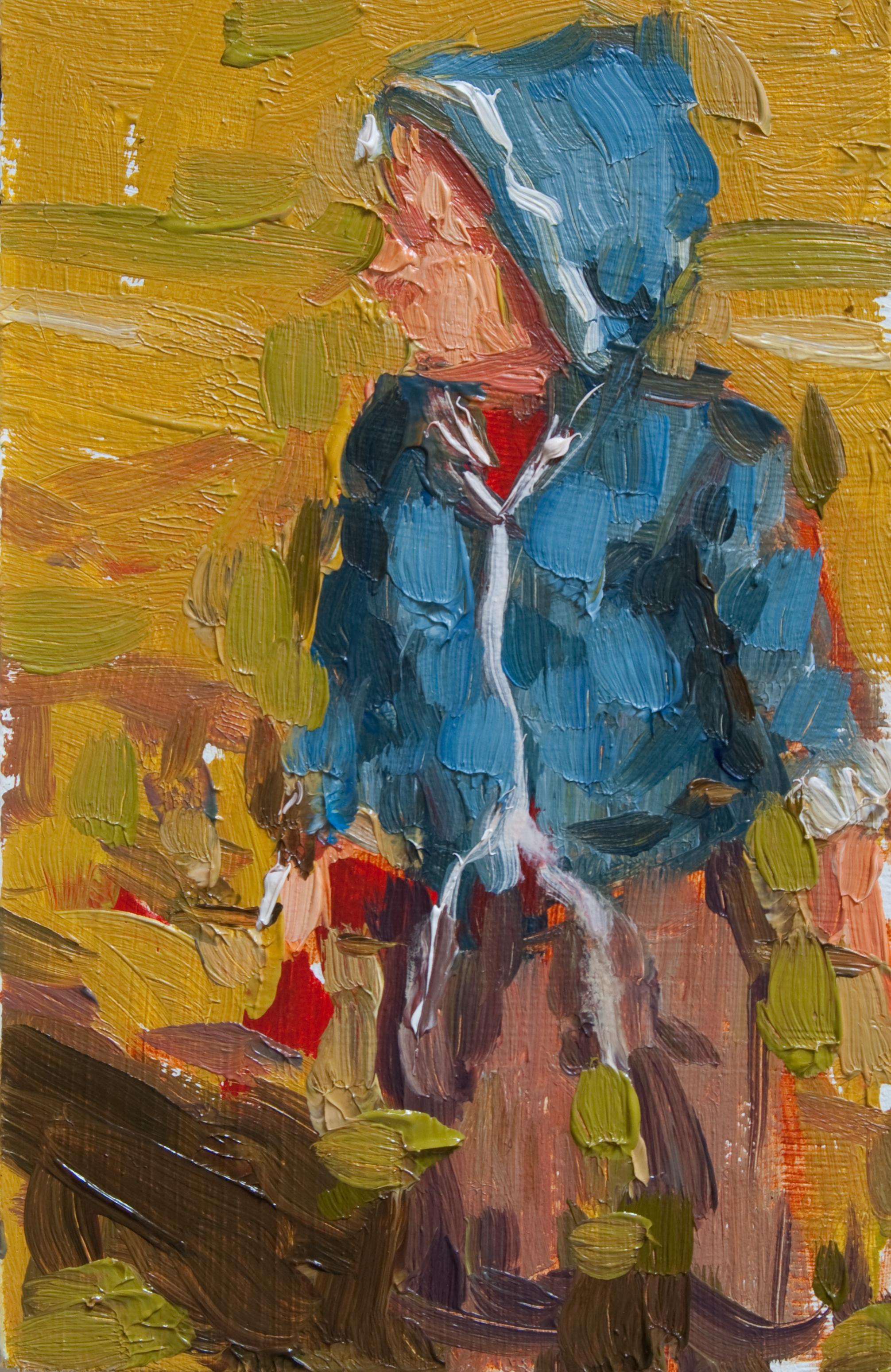 """TS 132, oil on panel, 3.25"""" x 2"""", 2011"""