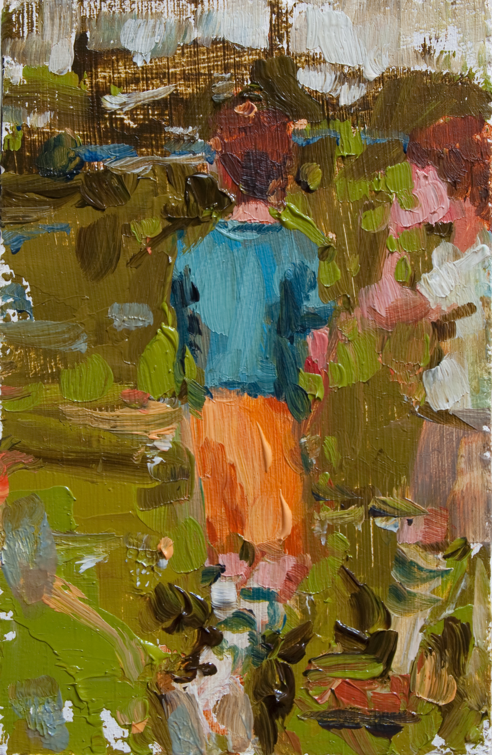 "TS 130, oil on panel, 3.25"" x 2"", 2011"