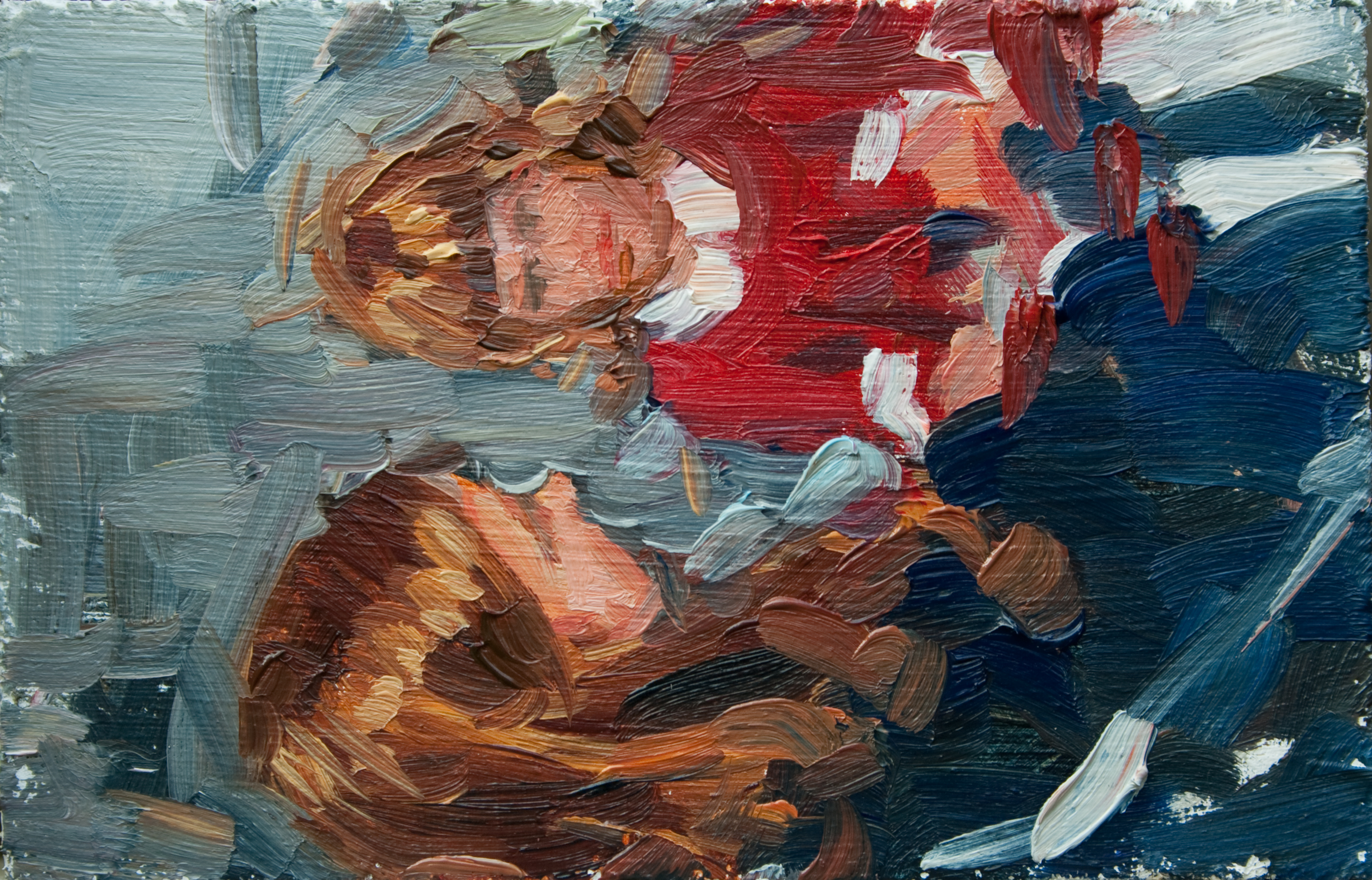 "TS 125, oil on panel, 3.25"" x 2"", 2011"