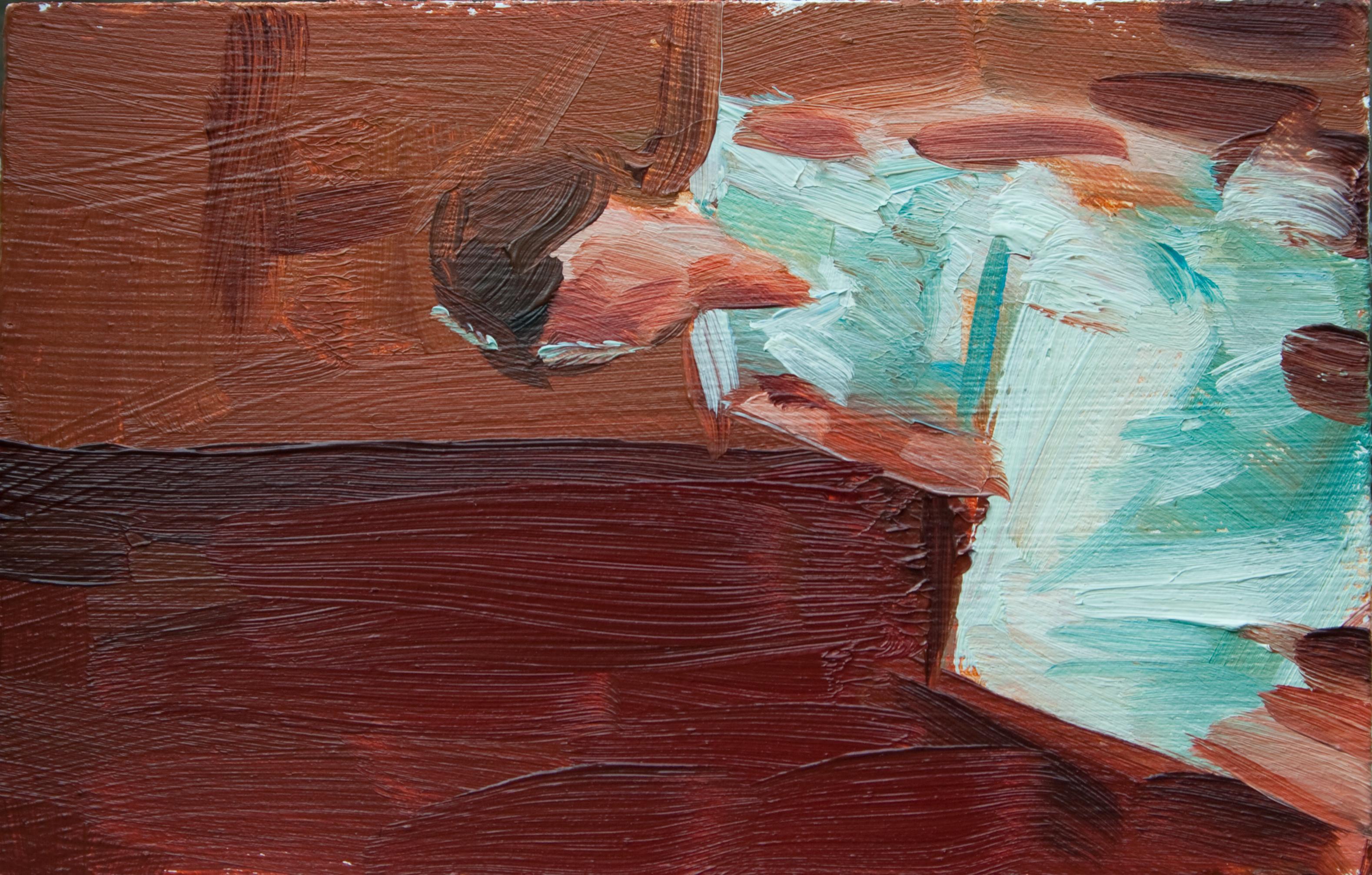 """TS 123, oil on panel, 3.25"""" x 2"""", 2011"""