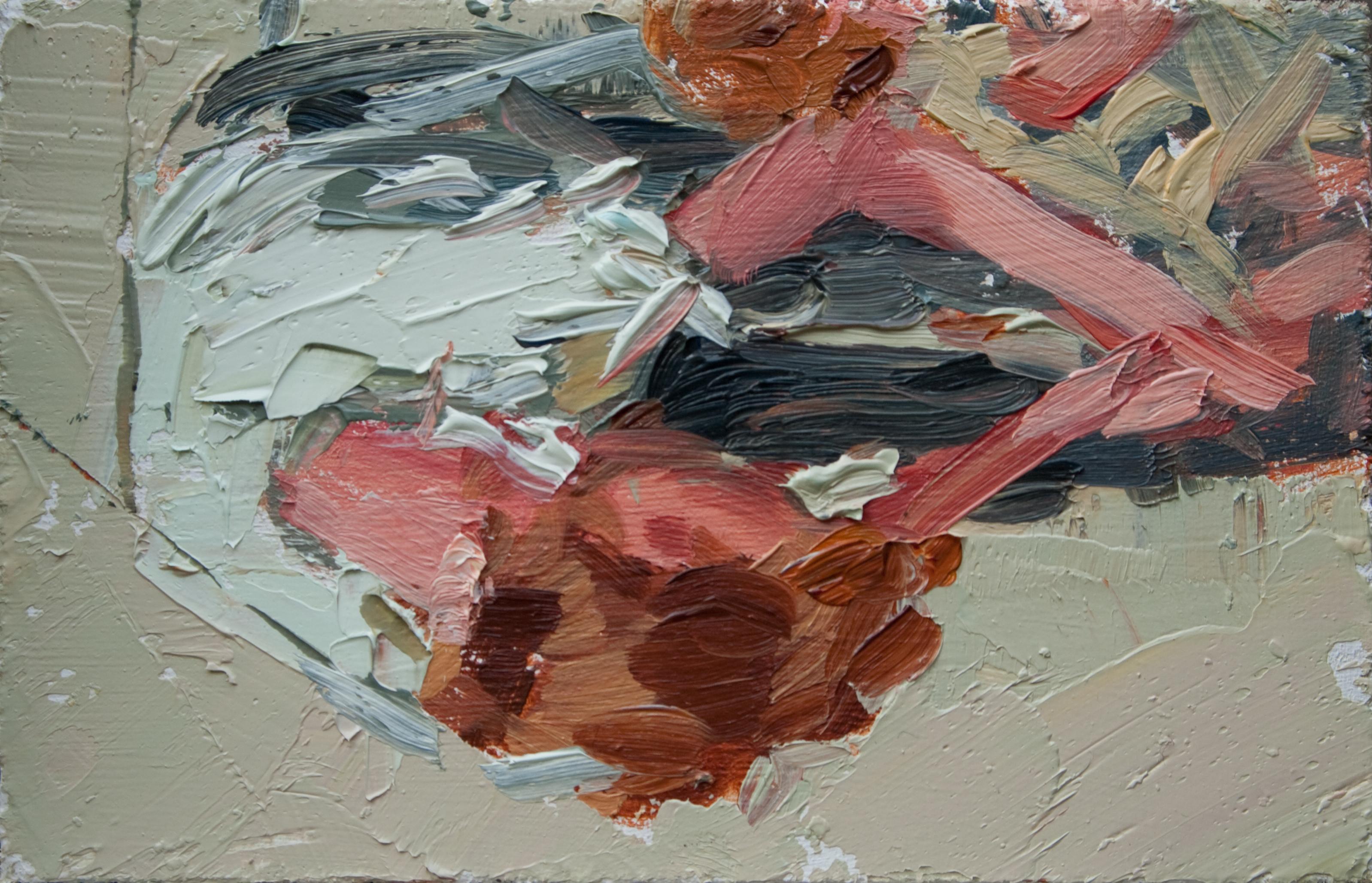 """TS 121, oil on panel, 3.25"""" x 2"""", 2011"""