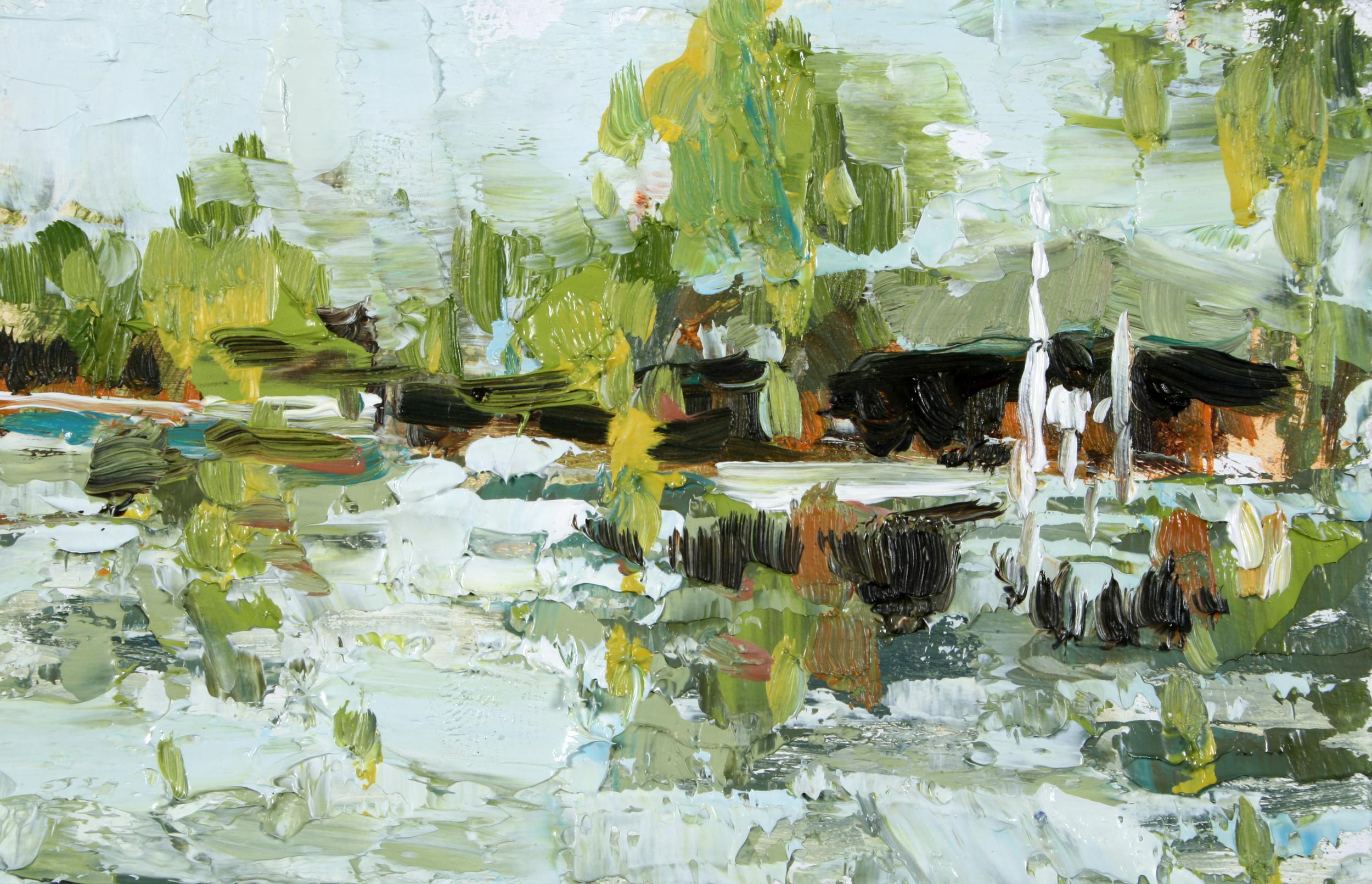 """TS 101, oil on panel, 2"""" x 3.25"""", 2011"""