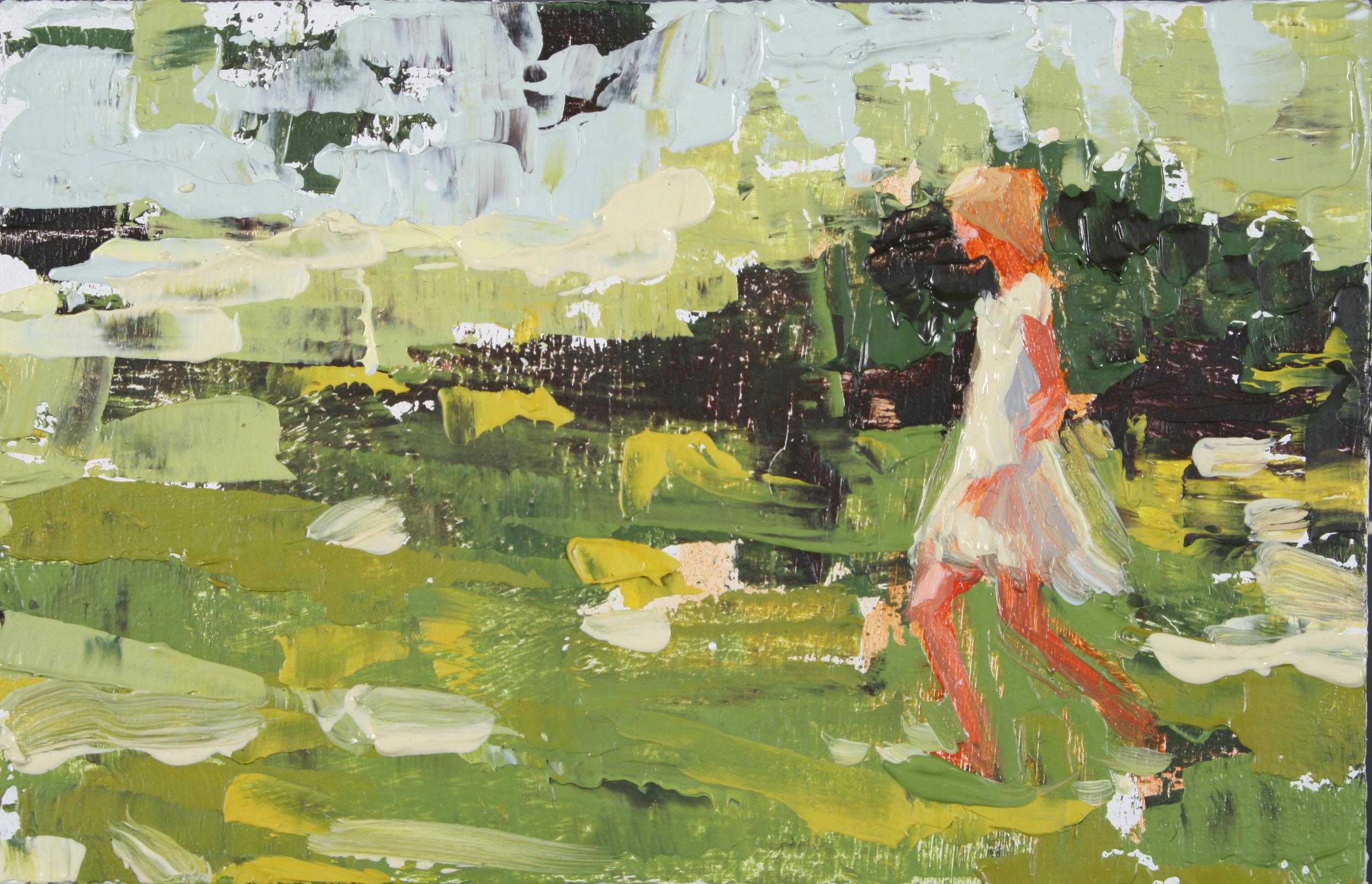 """TS 97, oil on panel, 2"""" x 3.25"""", 2011"""