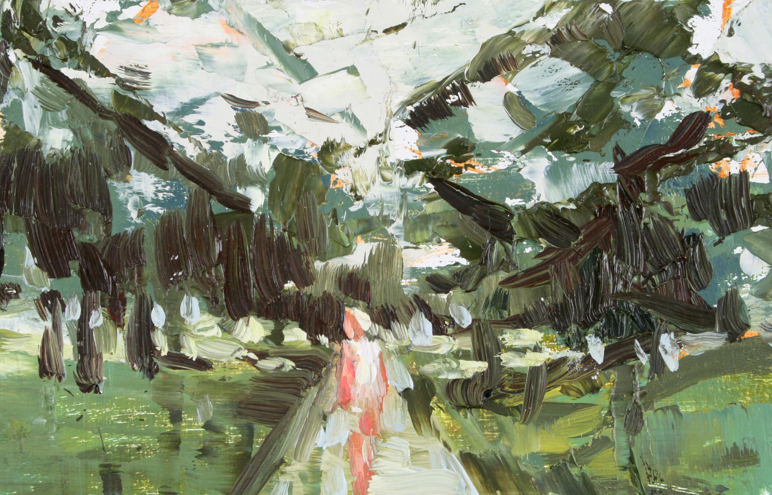 """TS 93, oil on panel, 2"""" x 3.25"""", 2011"""