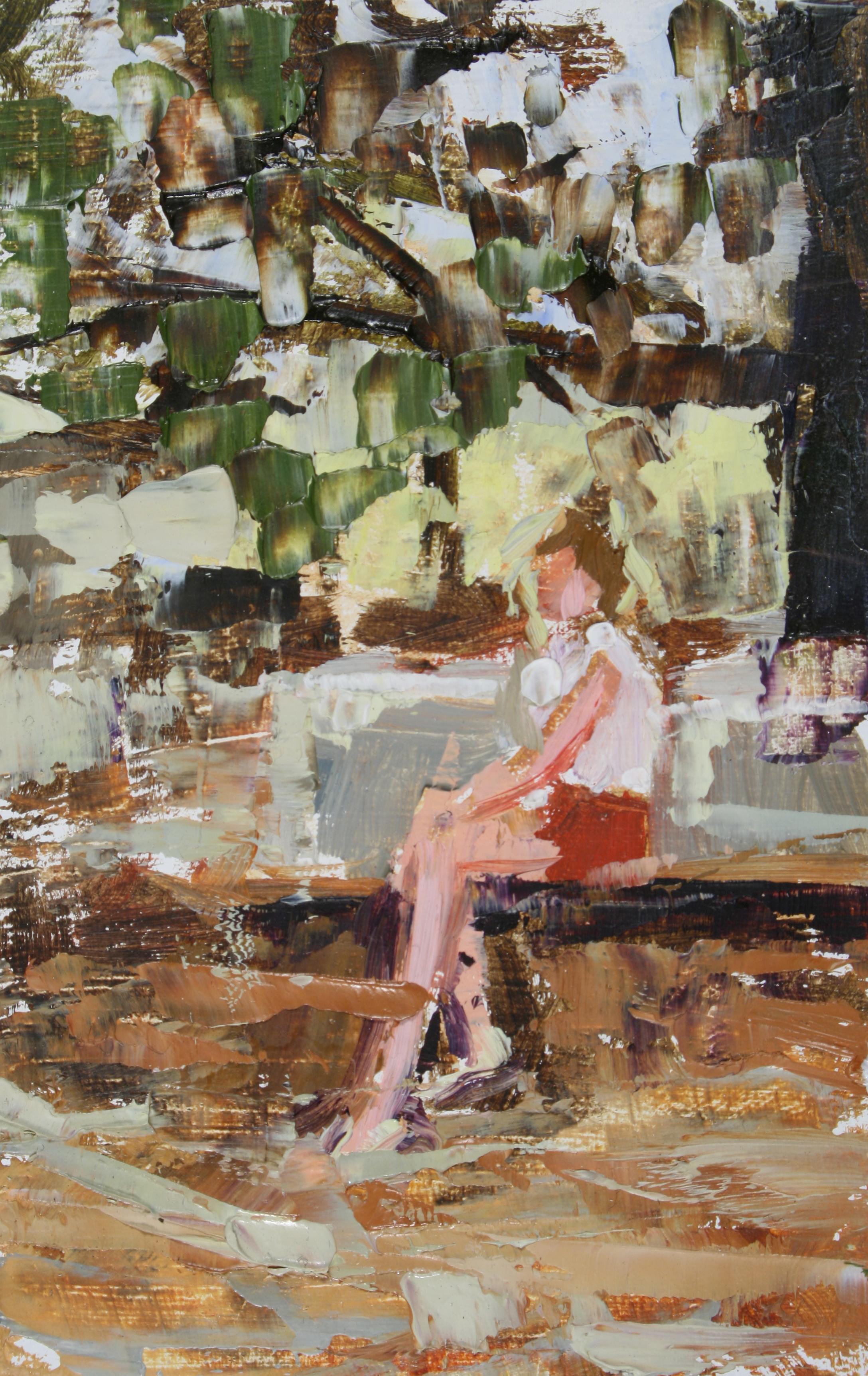 """TS 85, oil on panel, 3.25"""" x 2"""", 2011"""