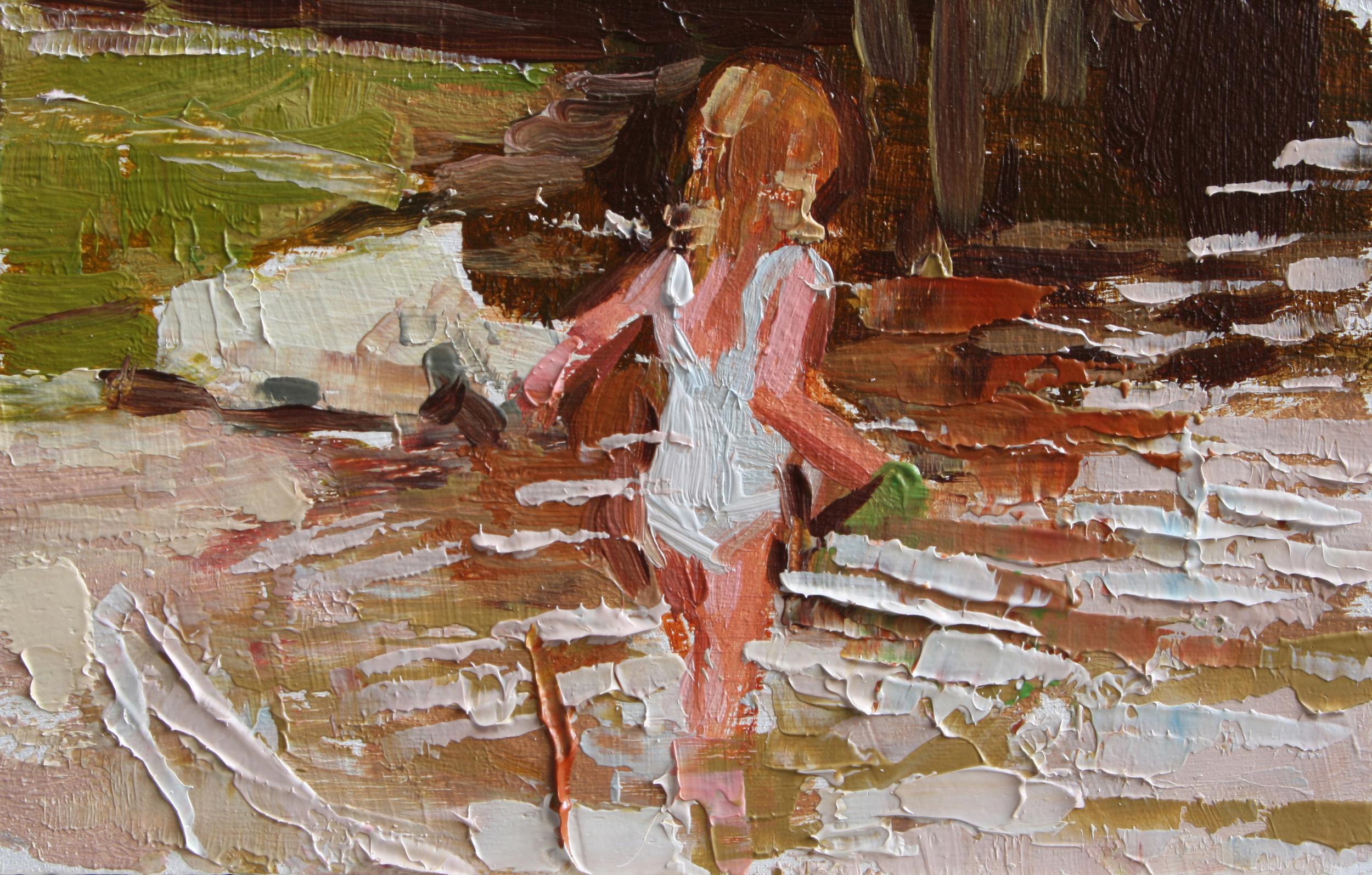 """TS 76, oil on panel, 2"""" x 3.25"""", 2011"""