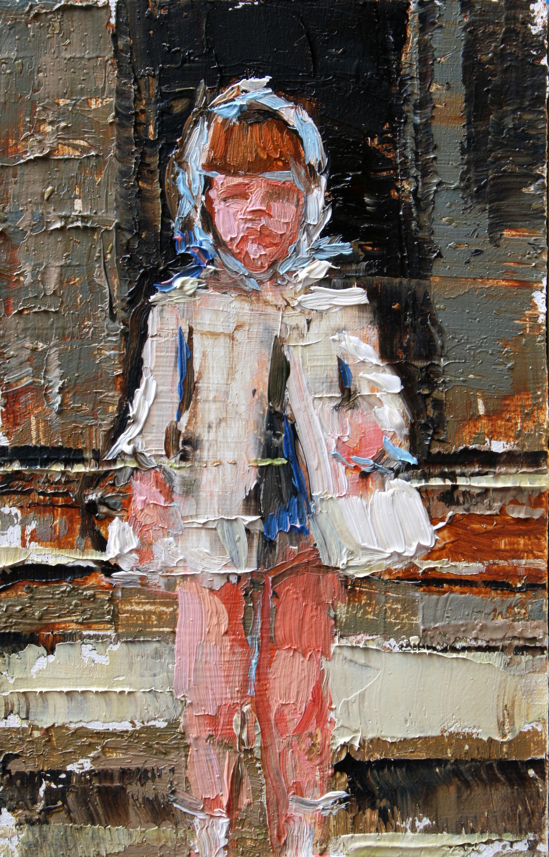 """TS 52, oil on panel, 3.25"""" x 2"""", 2011"""