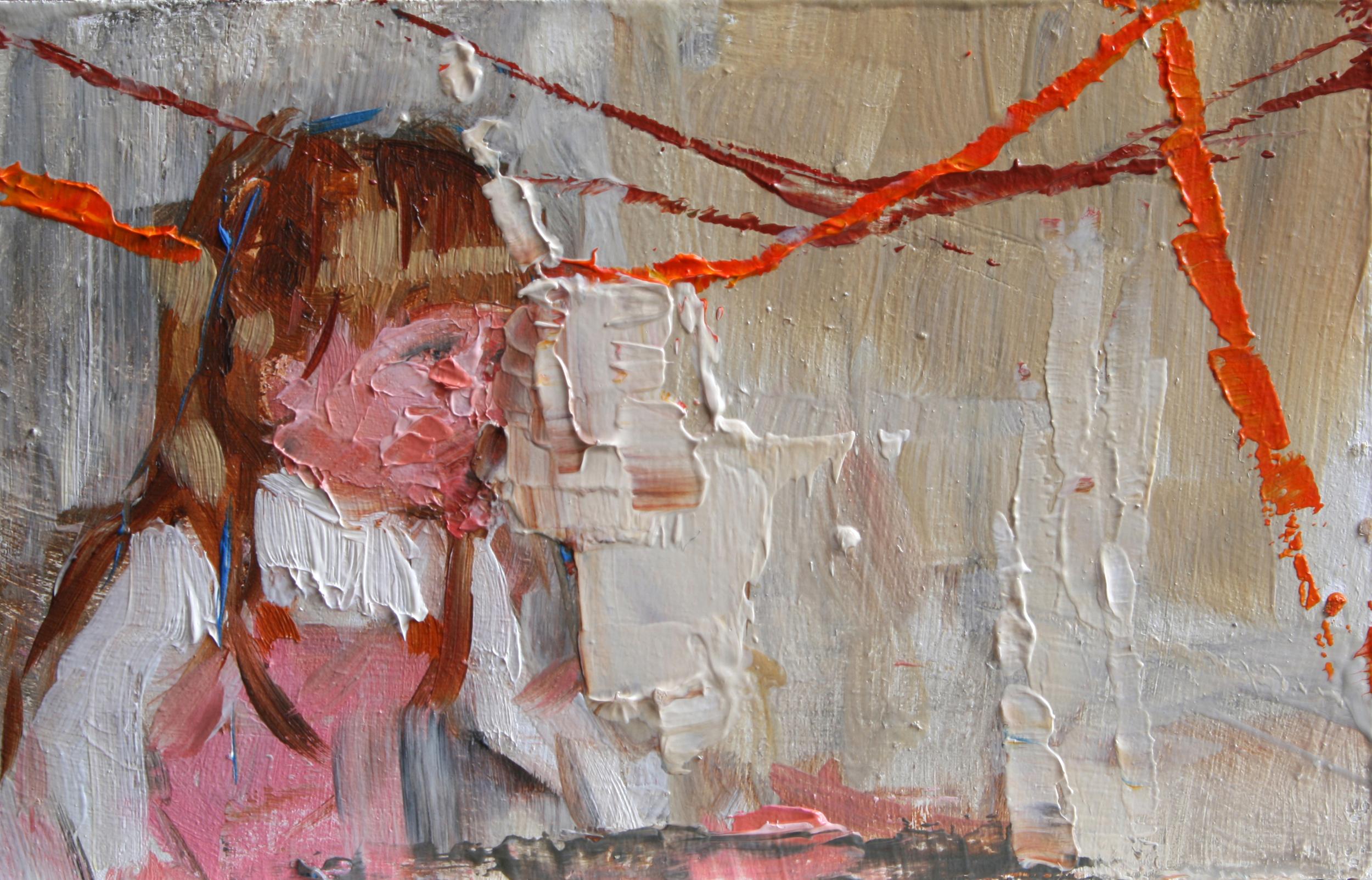 """TS 50, oil on panel, 2"""" x 3.25"""", 2011"""