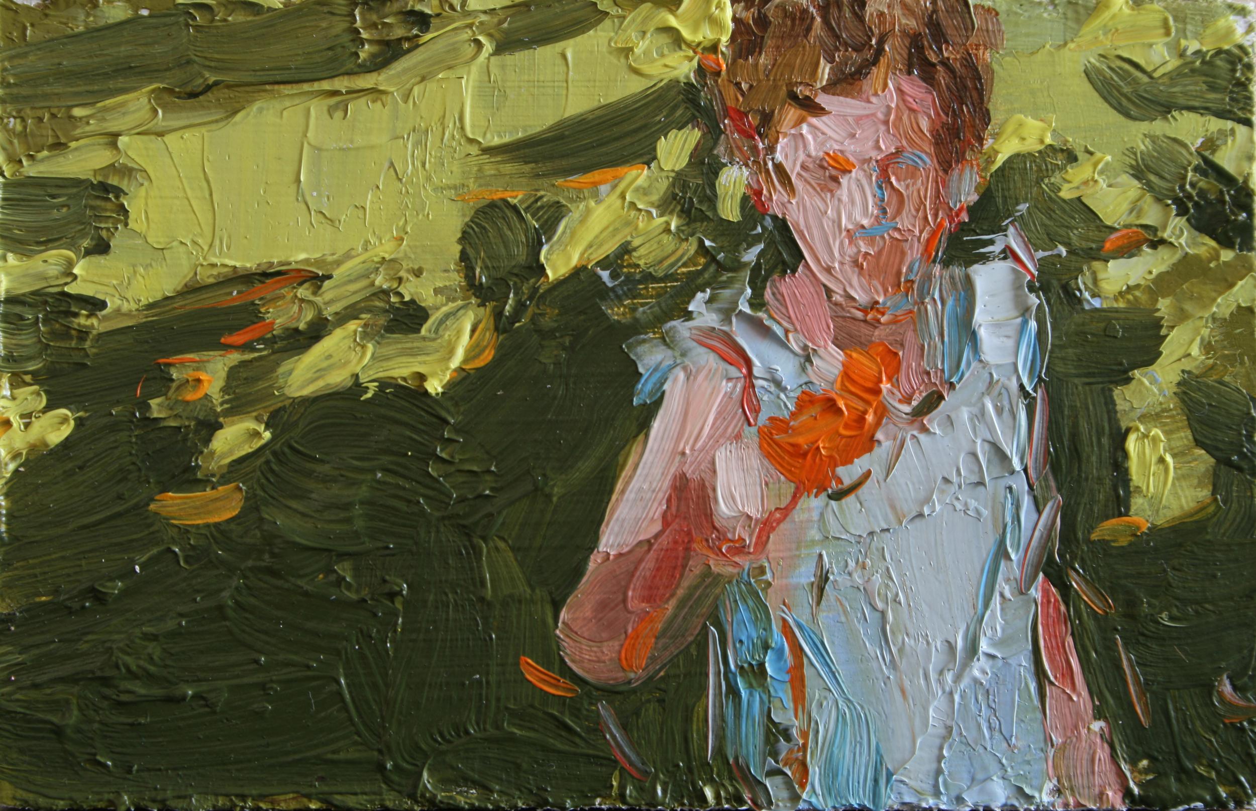 """TS 39, oil on panel, 2"""" x 3.25"""", 2011"""