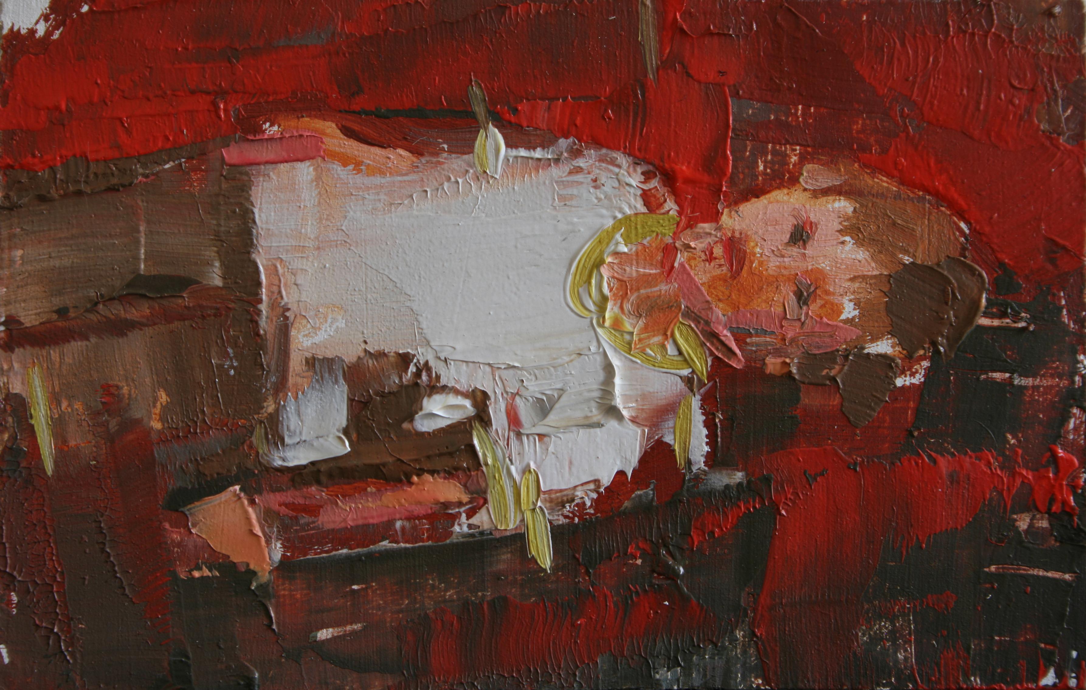 """TS 36, oil on panel, 3.25"""" x 2"""", 2011"""
